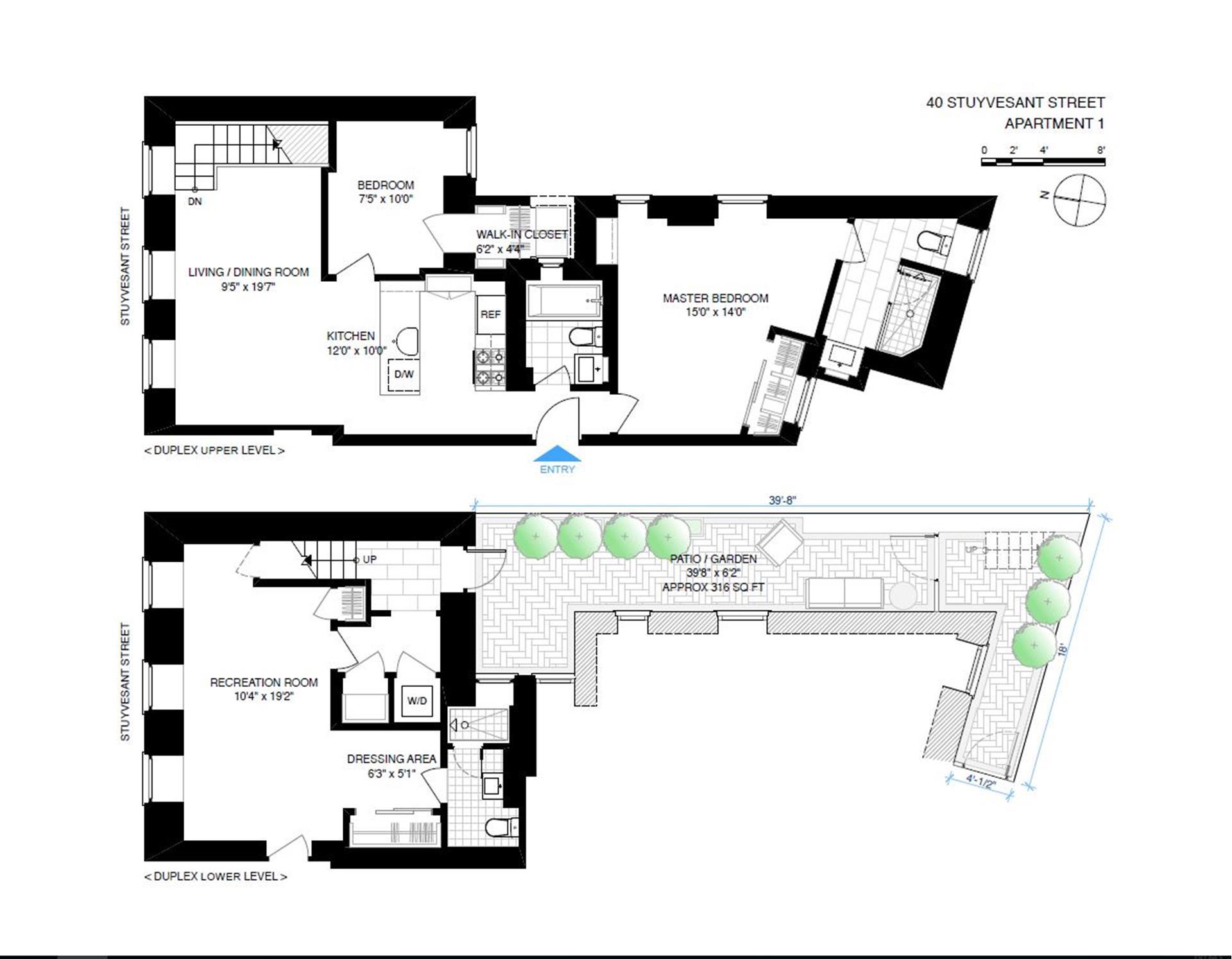 Floor plan of 40 Stuyvesant St, 1 - East Village, New York