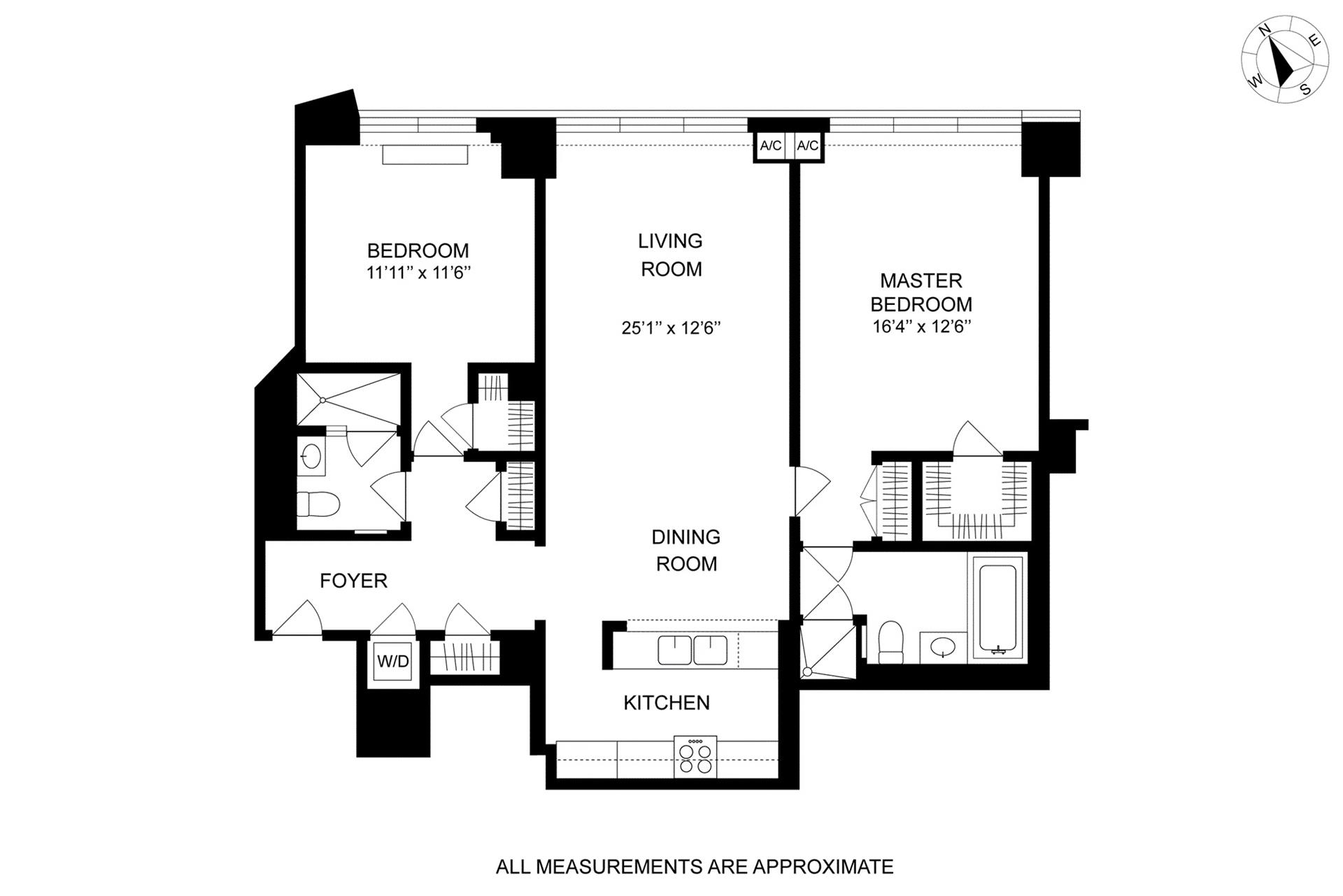 Floor plan of 1 Morton Square, 5AW - West Village - Meatpacking District, New York