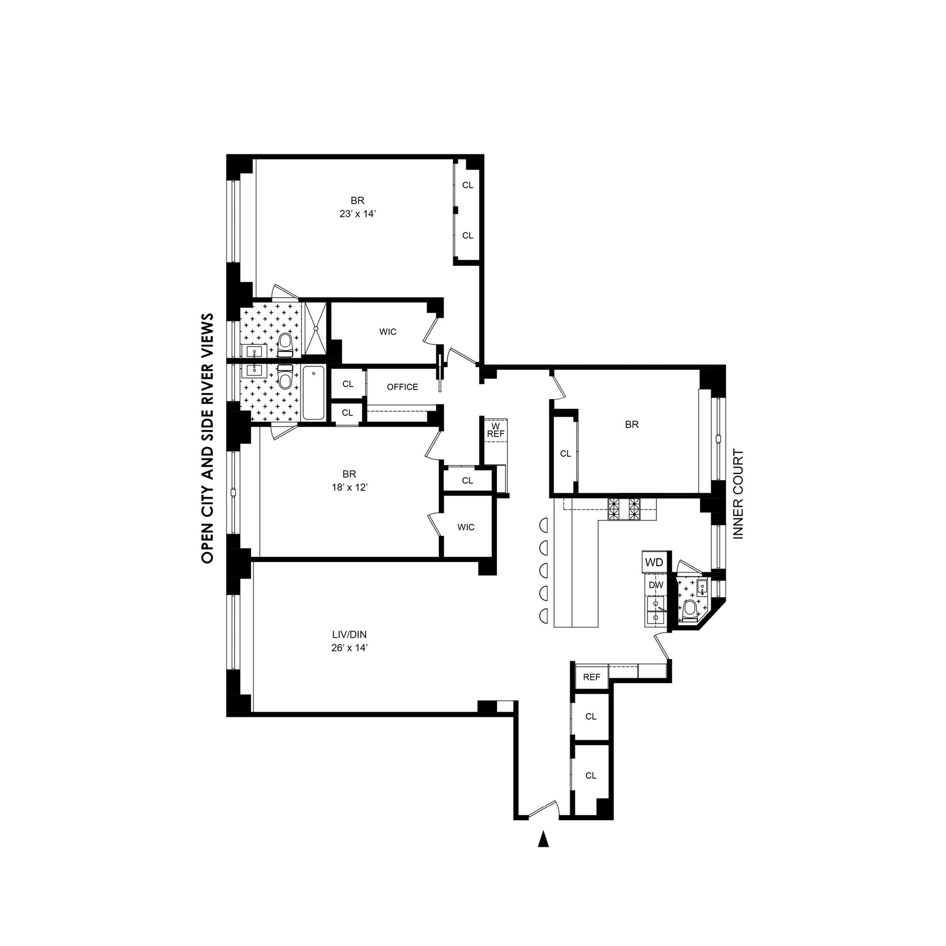 Floor plan of 50 Riverside Drive, 10C - Upper West Side, New York