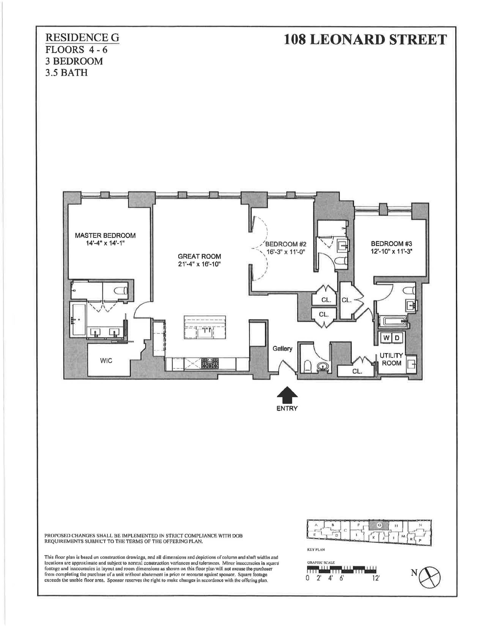 Floor plan of 108 Leonard St, 4G - TriBeCa, New York