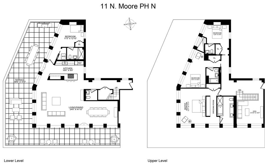 Floor plan of 11 North Moore St, PHN - TriBeCa, New York