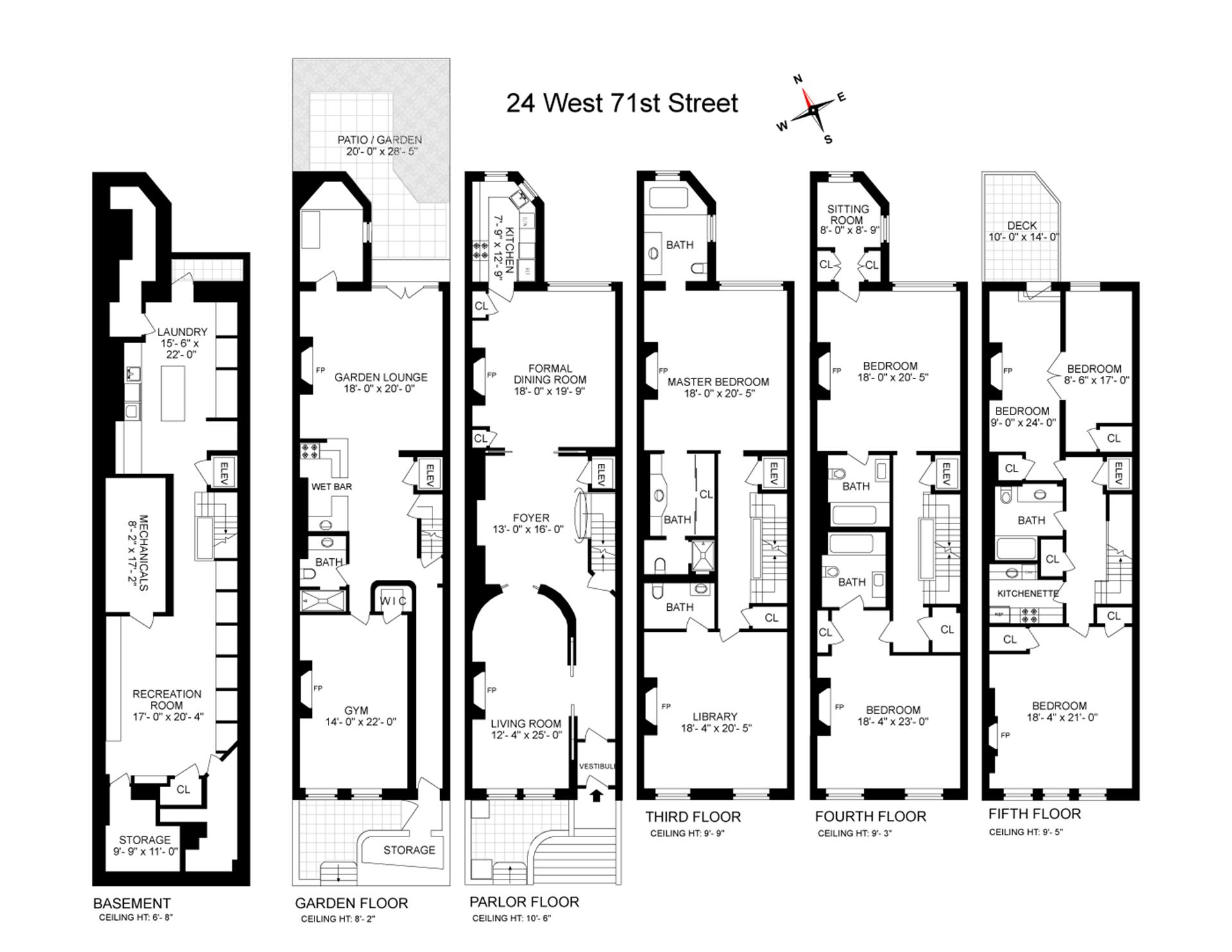 Floor plan of 24 West 71st St - Upper West Side, New York