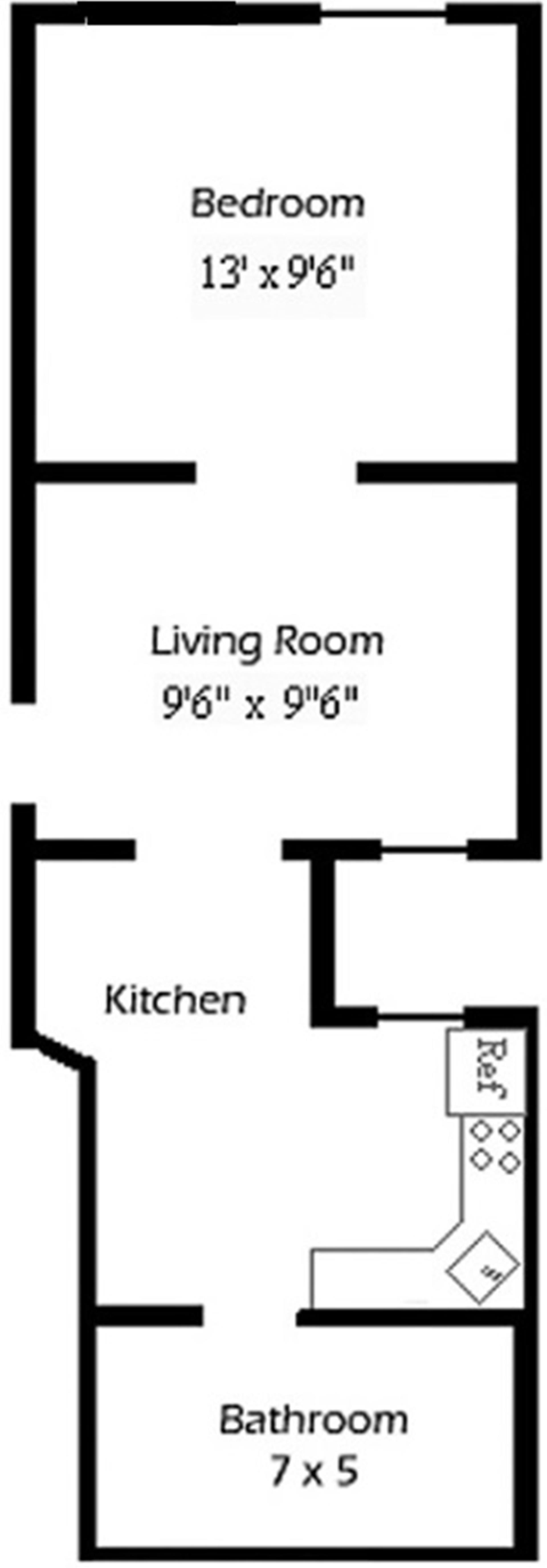 Floor plan of 244 East 90th St, 1A - Upper East Side, New York