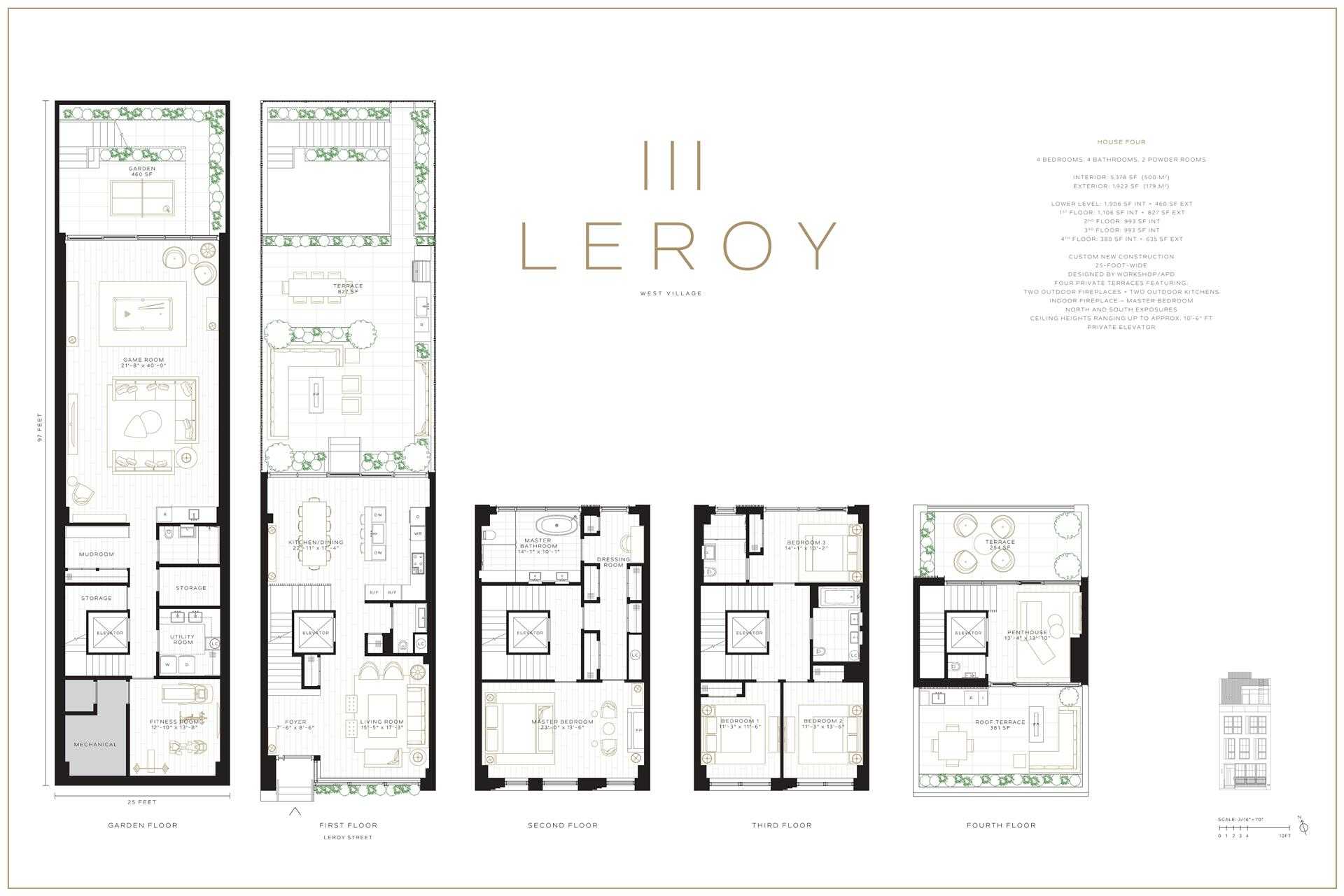 Floor plan of 115 Leroy St - West Village - Meatpacking District, New York