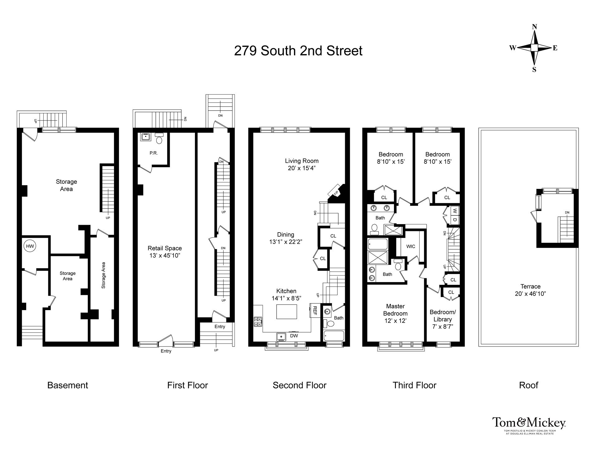 Floor plan of 270 South 2nd St - Williamsburg, New York