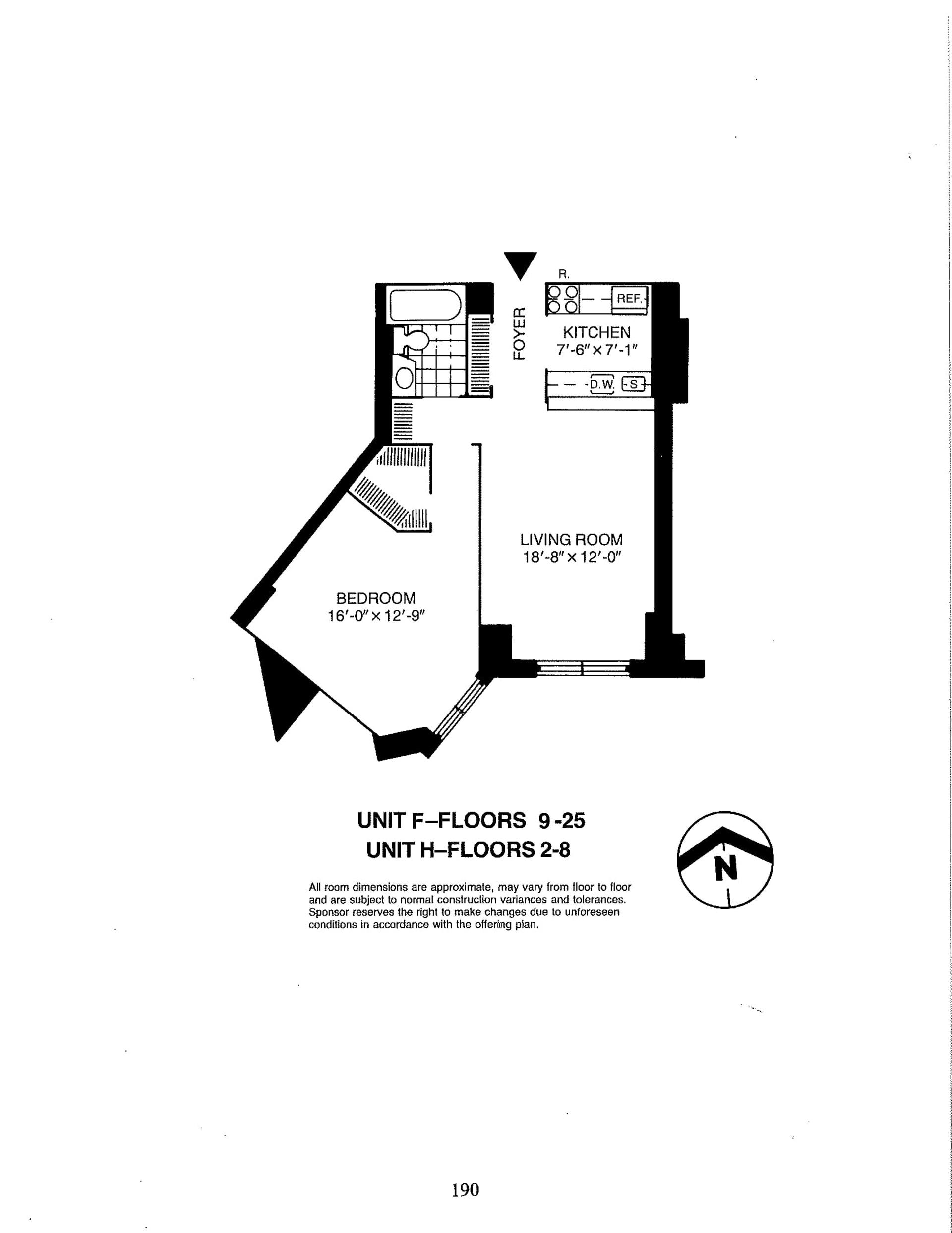 Floor plan of Liberty Residences, 380 Rector Pl, 25F - Battery Park City, New York