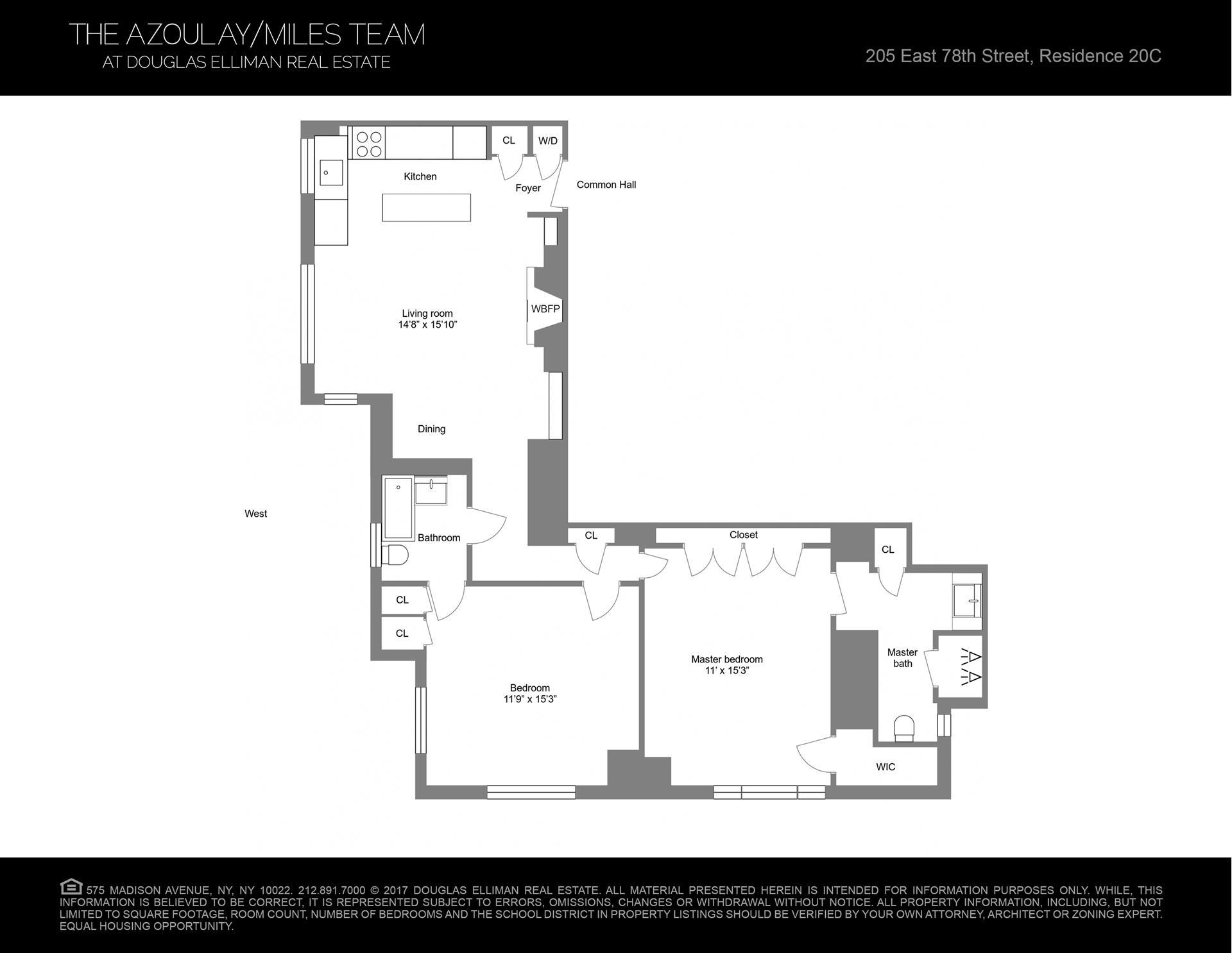 Floor plan of 205 East 78th St, 20C - Upper East Side, New York