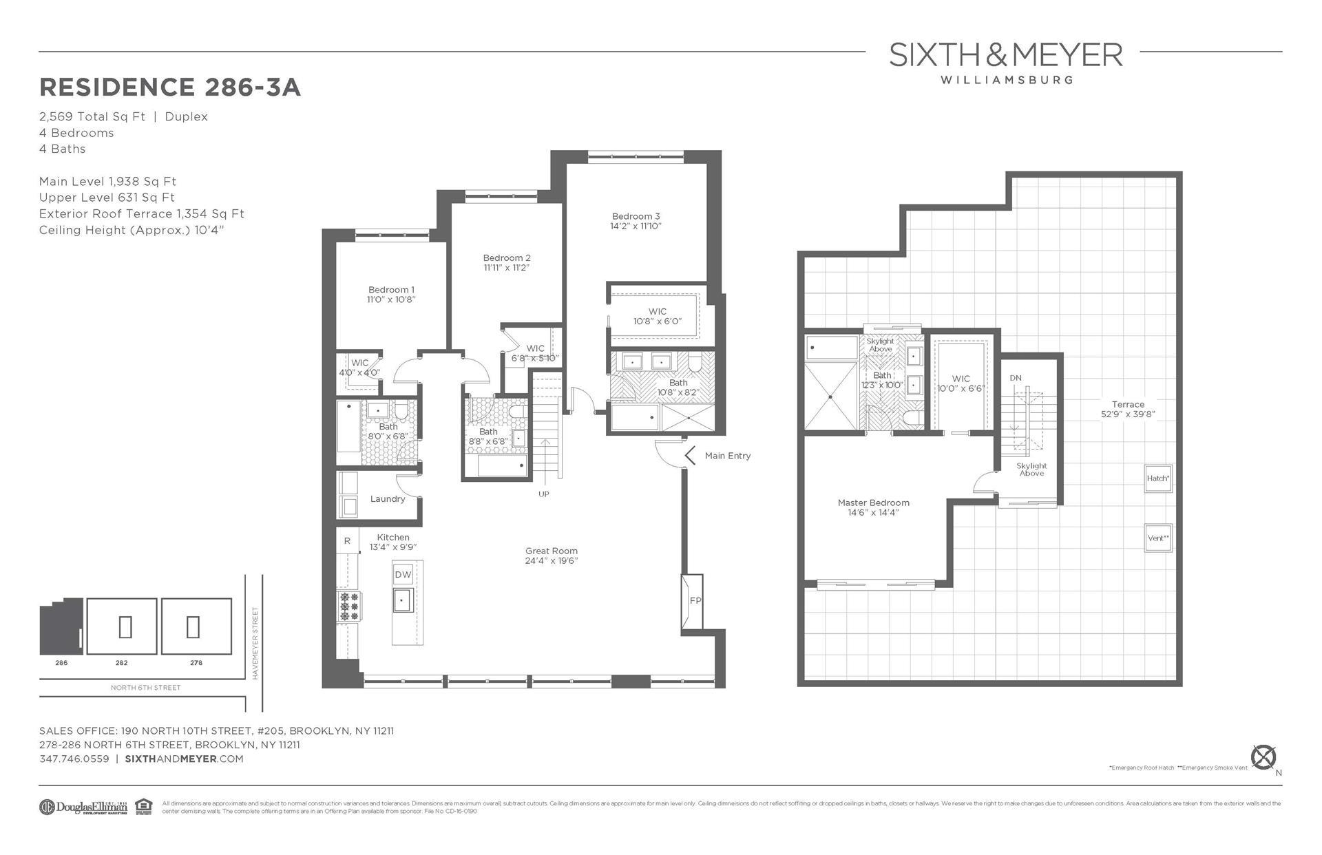 Floor plan of Sixth & Meyer, 278-286 North 6th St, 286/3A - Williamsburg, New York