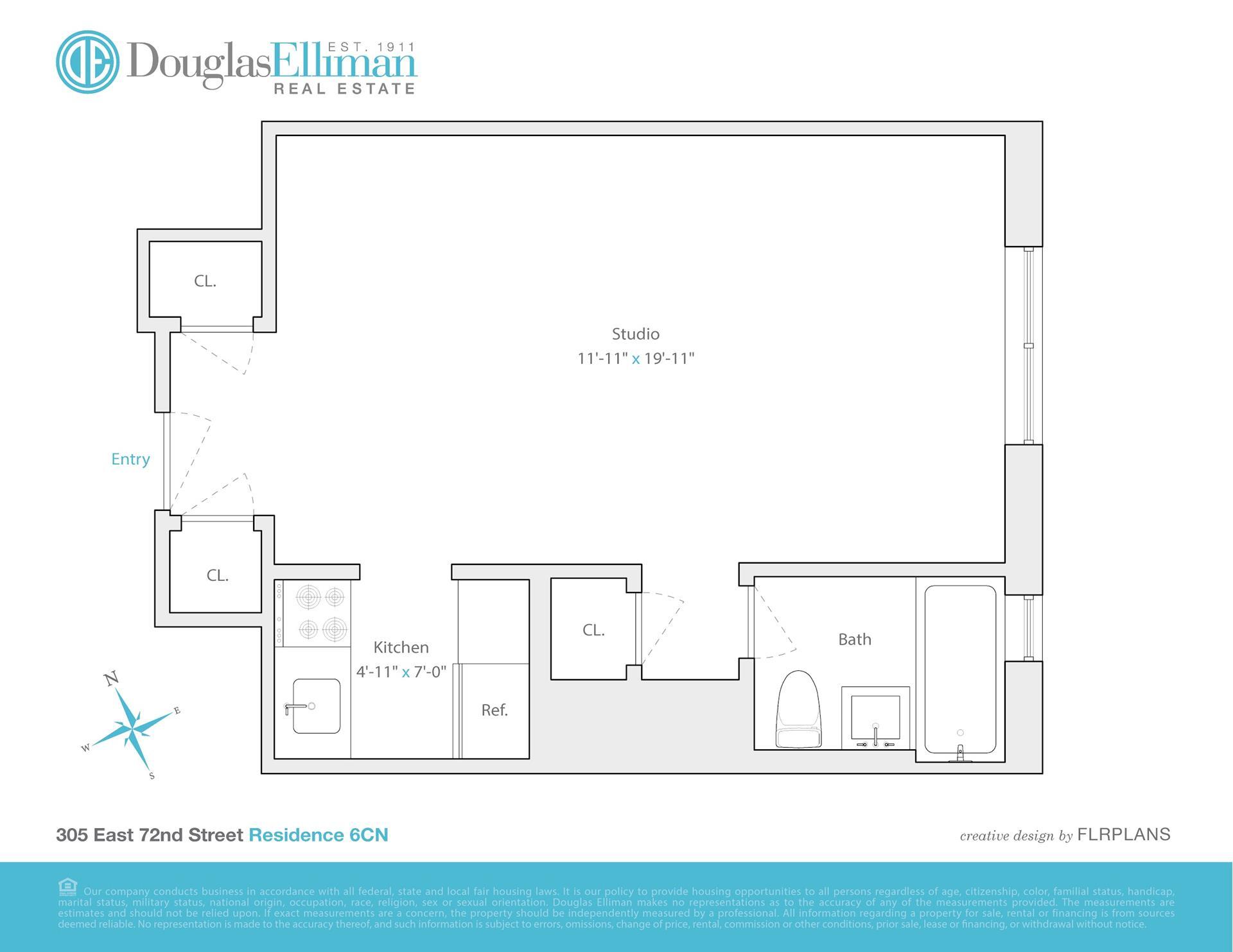 Floor plan of 305 East 72nd St, 6CN - Upper East Side, New York