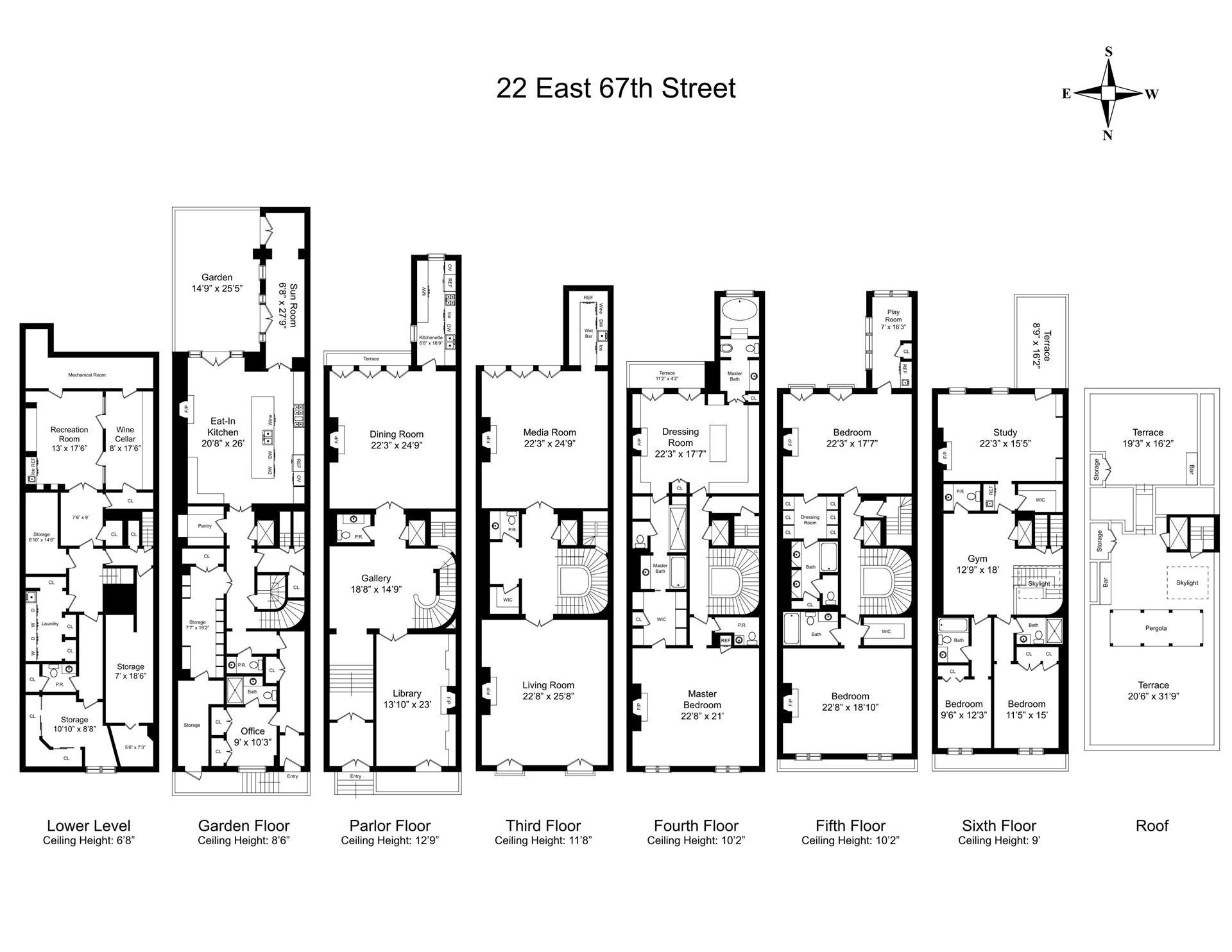 Floor plan of 22 East 67th St - Upper East Side, New York