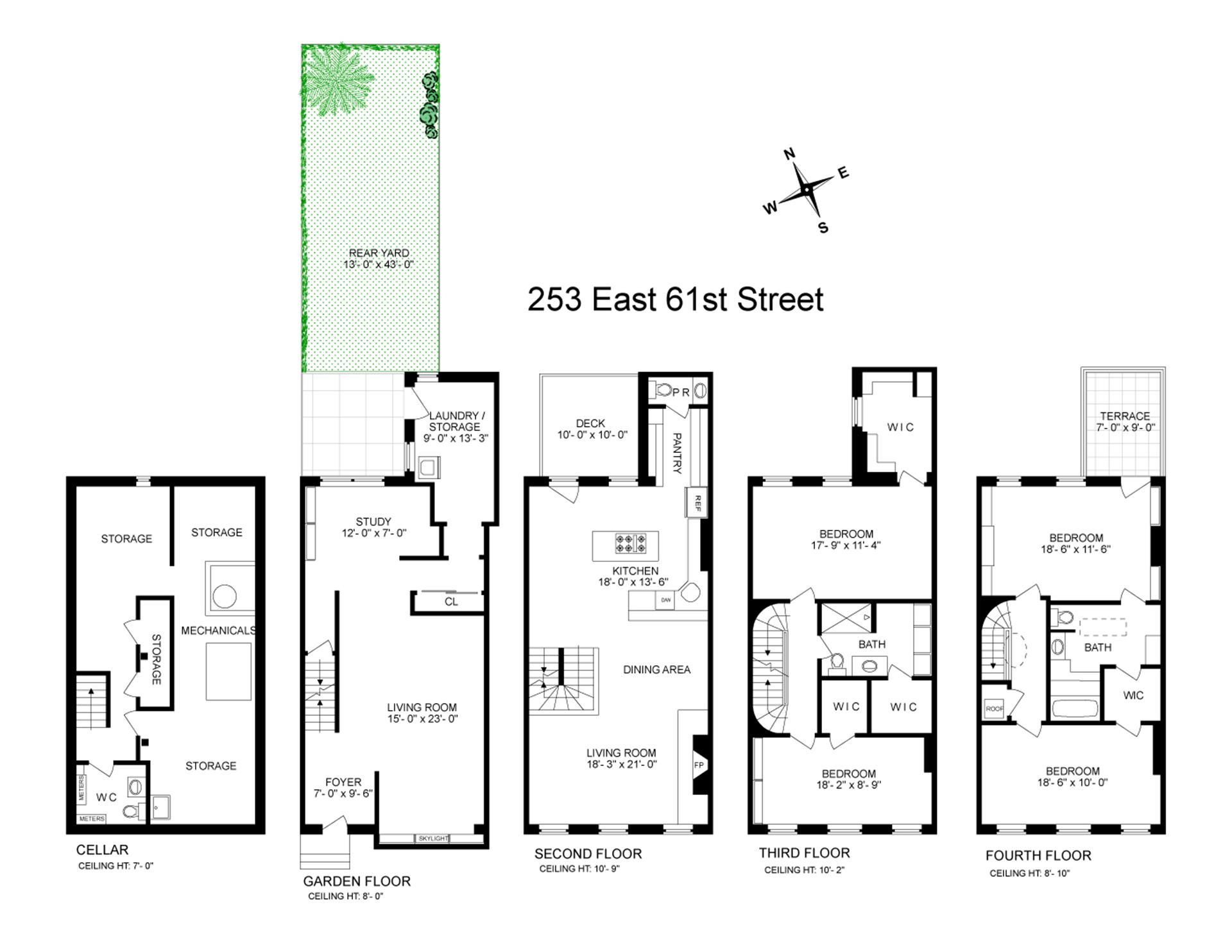 Floor plan of 253 East 61st St - Upper East Side, New York