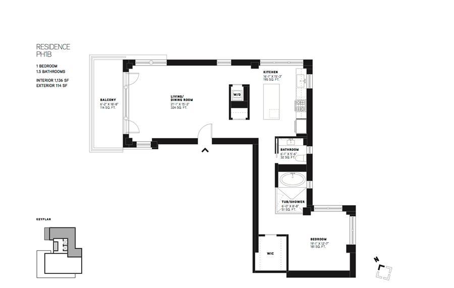 Floor plan of 144 N. 8TH STREET, 144 North 8th Street, PH1B