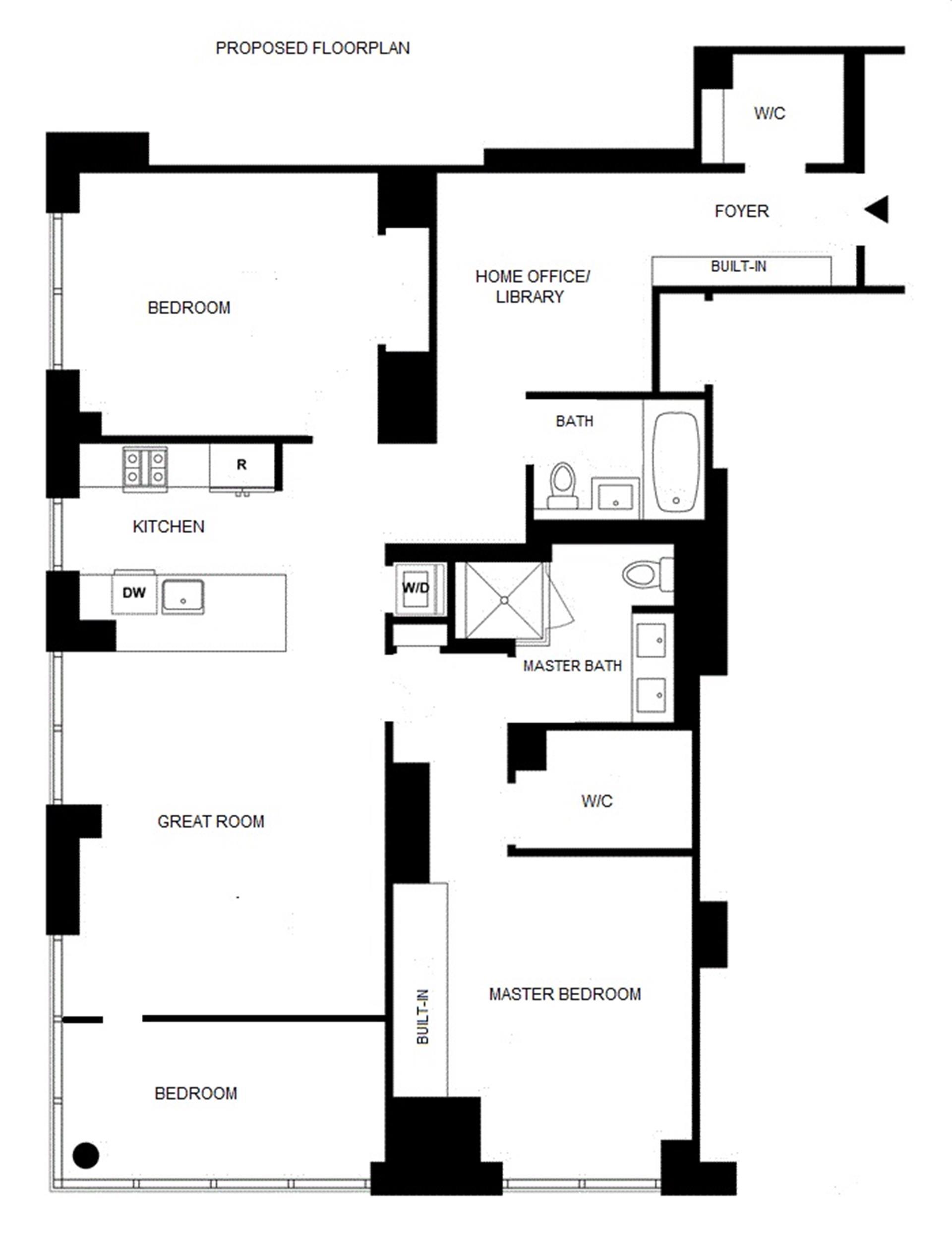 Floor plan of AZURE, 333 East 91st St, 4A - Upper East Side, New York