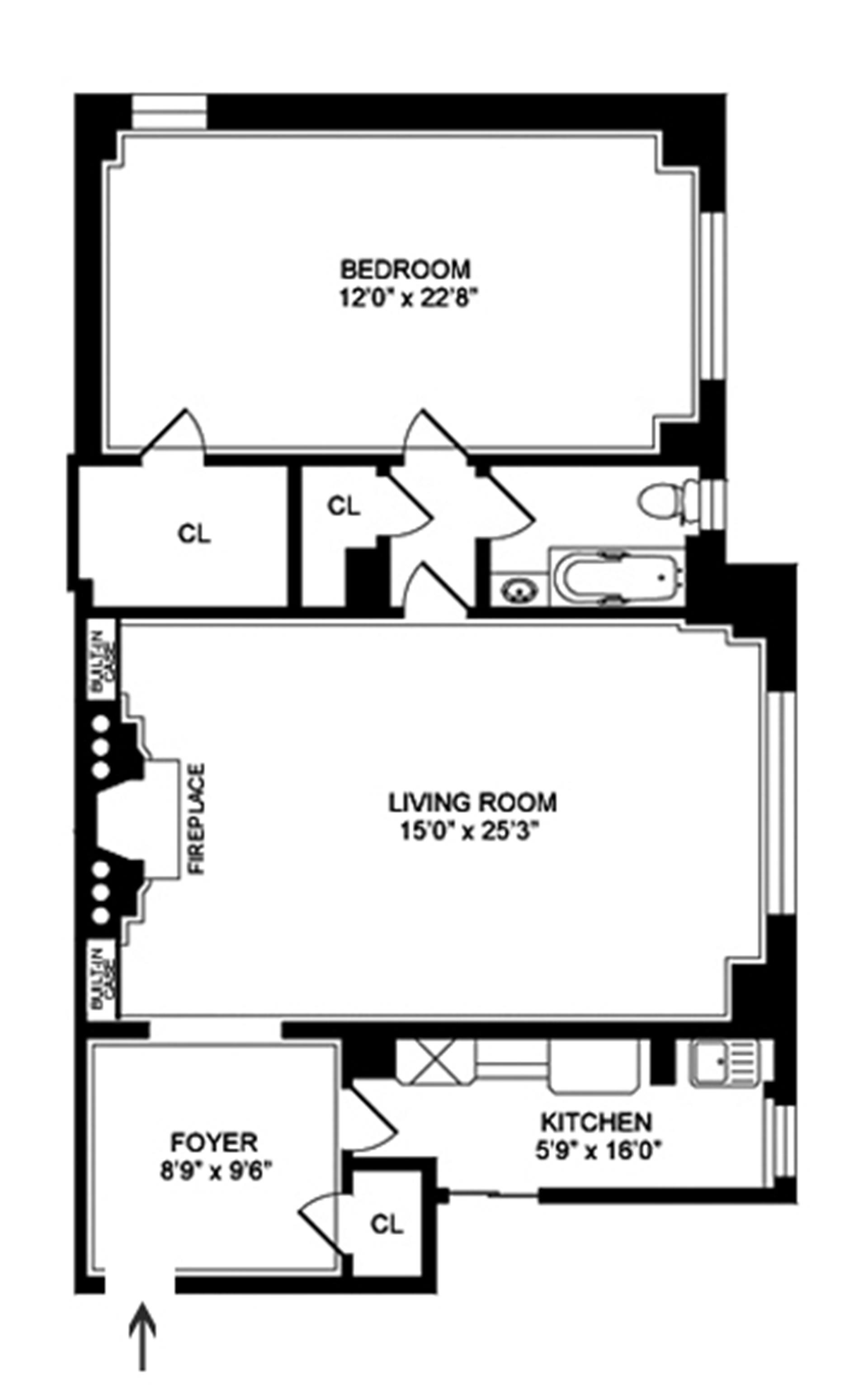 Floor plan of 480 Park Avenue, 8J - Midtown, New York