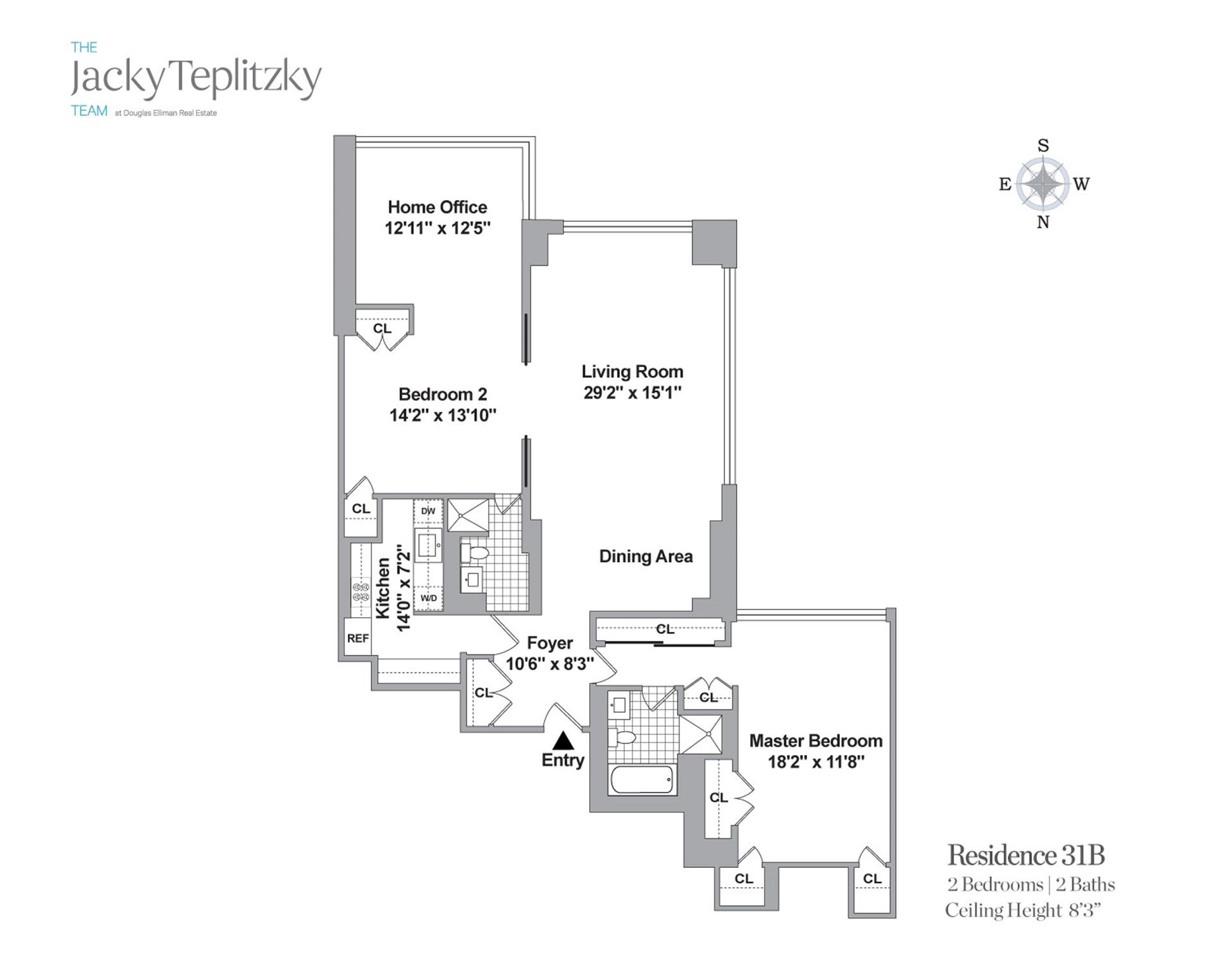 Floor plan of 117 East 57th St, 31B - Midtown, New York