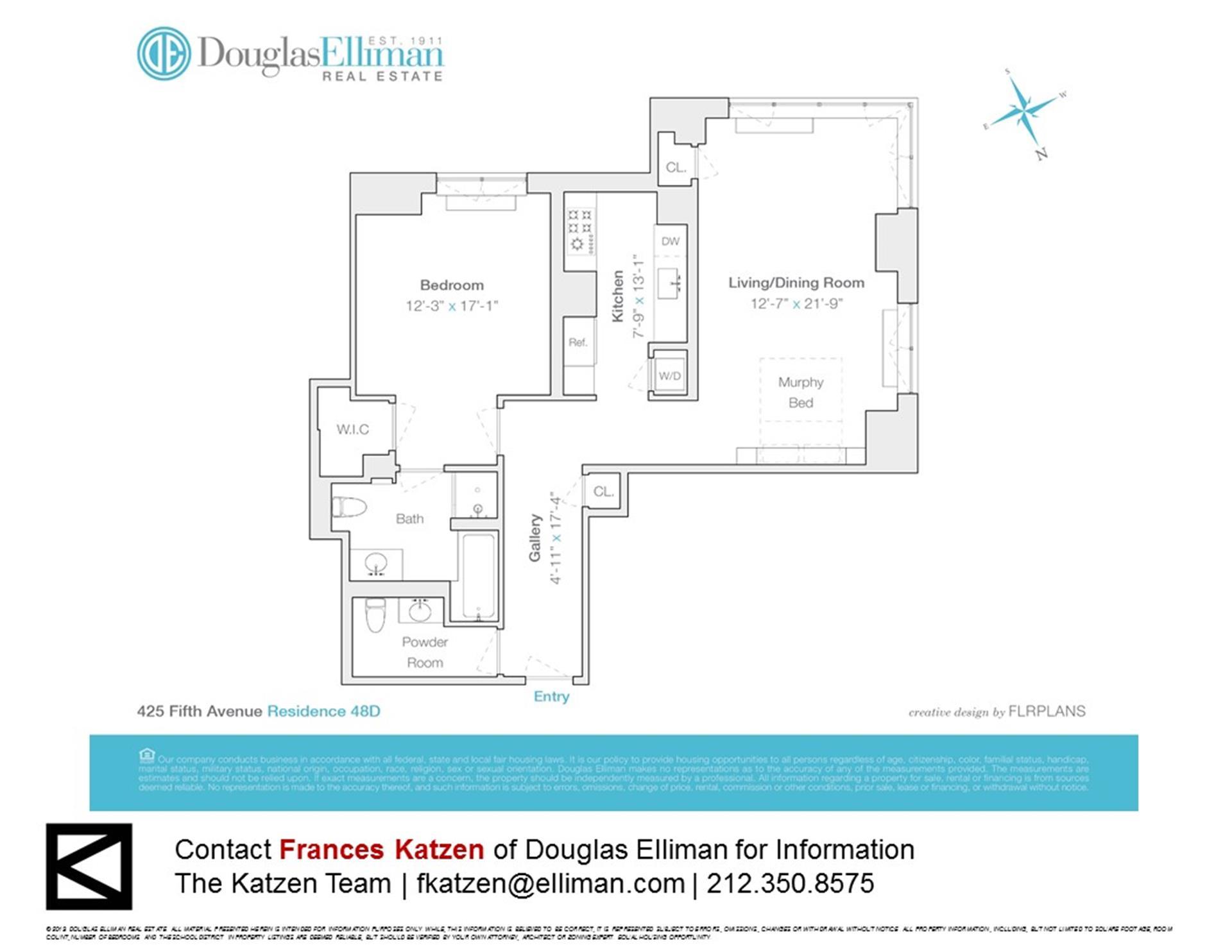 Floor plan of 425 Fifth Avenue, 48D - Murray Hill, New York