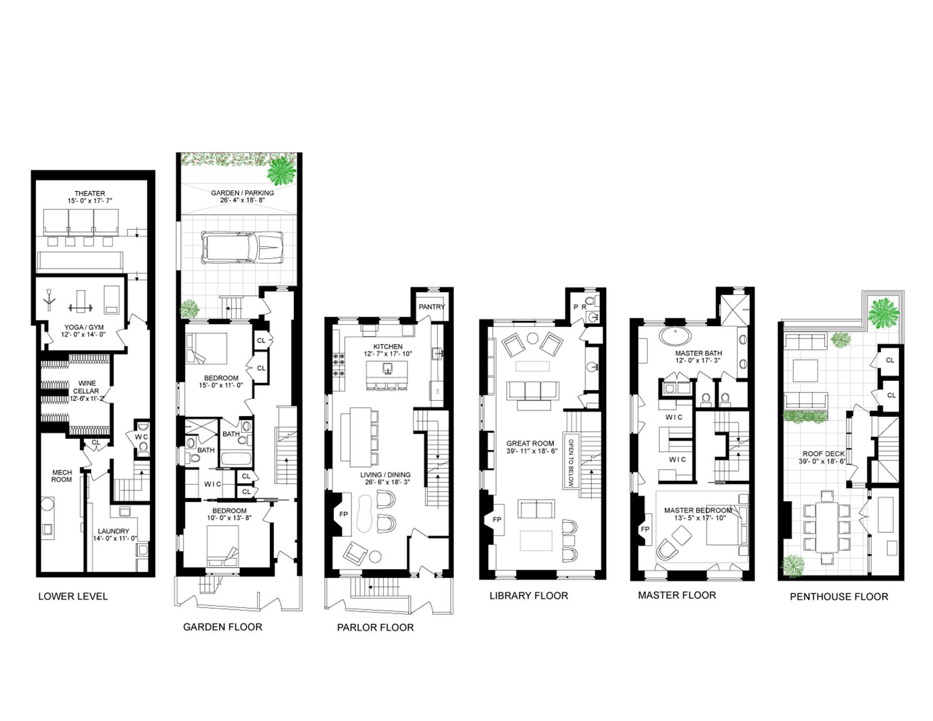 Floor plan of 18 Grove St - West Village - Meatpacking District, New York