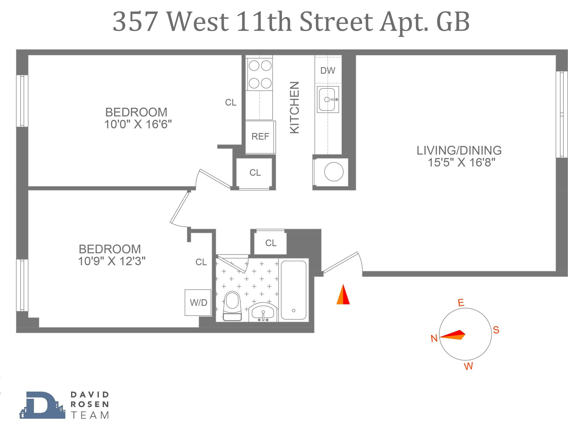 Floor plan of 357 West 11th St, GB - West Village - Meatpacking District, New York