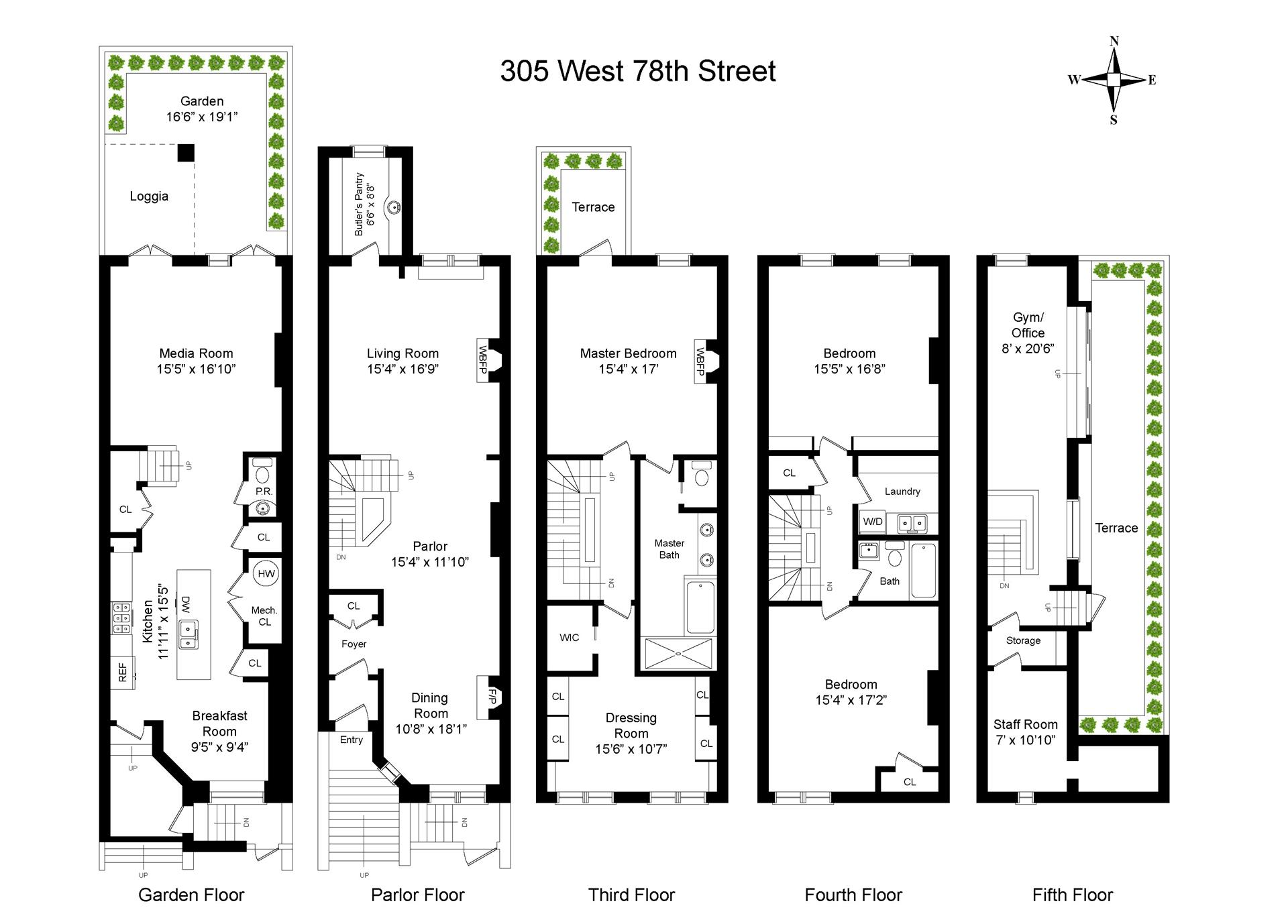 Floor plan of 305 West 78th St - Upper West Side, New York