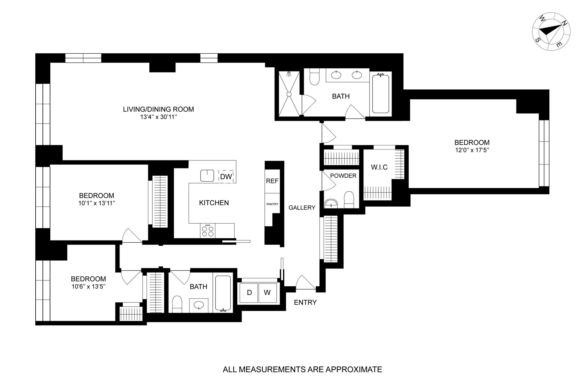 Floor plan of The Seymour, 261 West 25th St, 6D - Chelsea, New York
