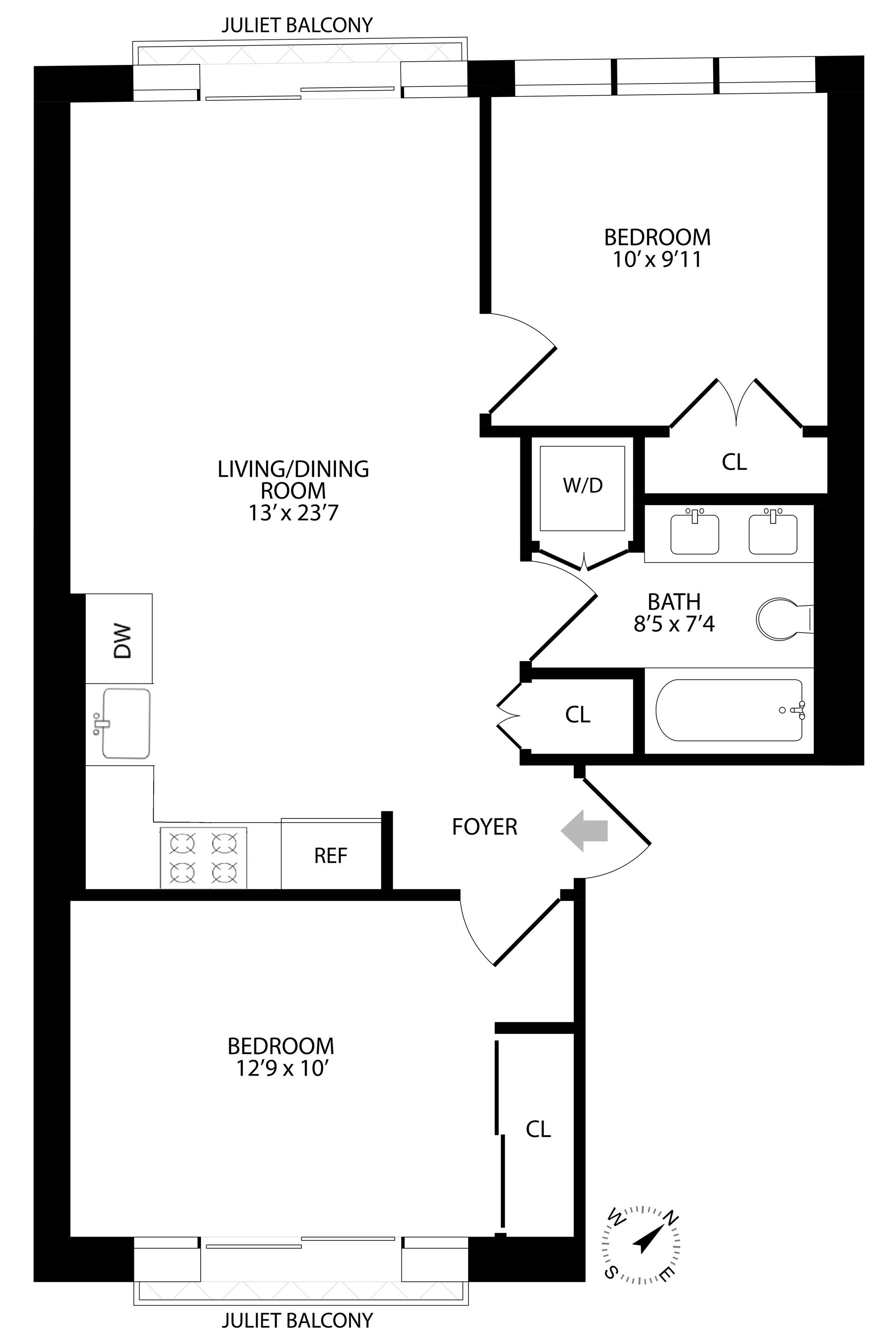 Floor plan of 57 Himrod St, 2 - Bushwick, New York
