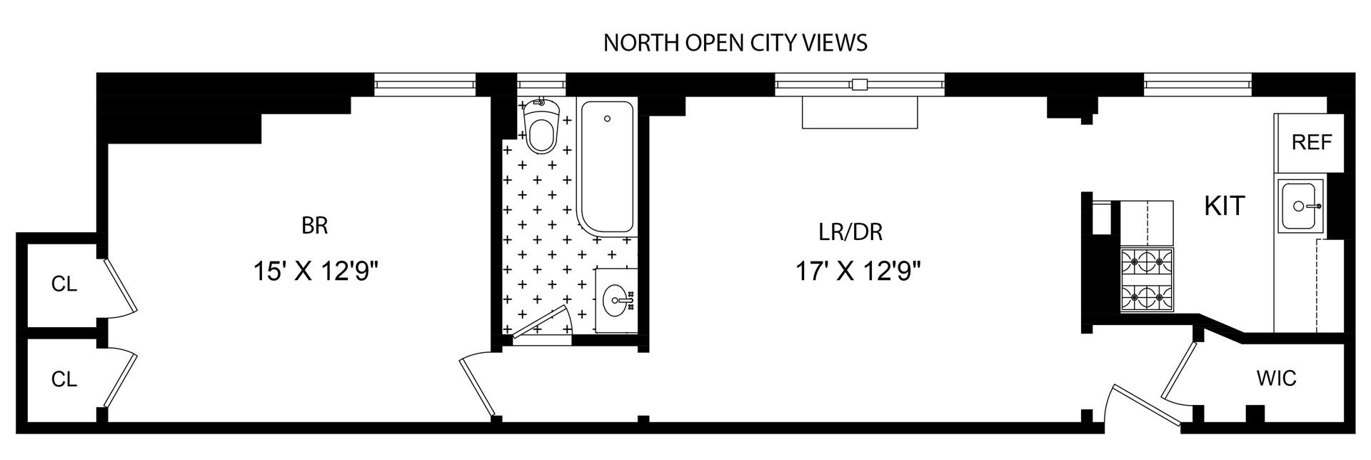 Floor plan of 255 West 84th St, 12F - Upper West Side, New York