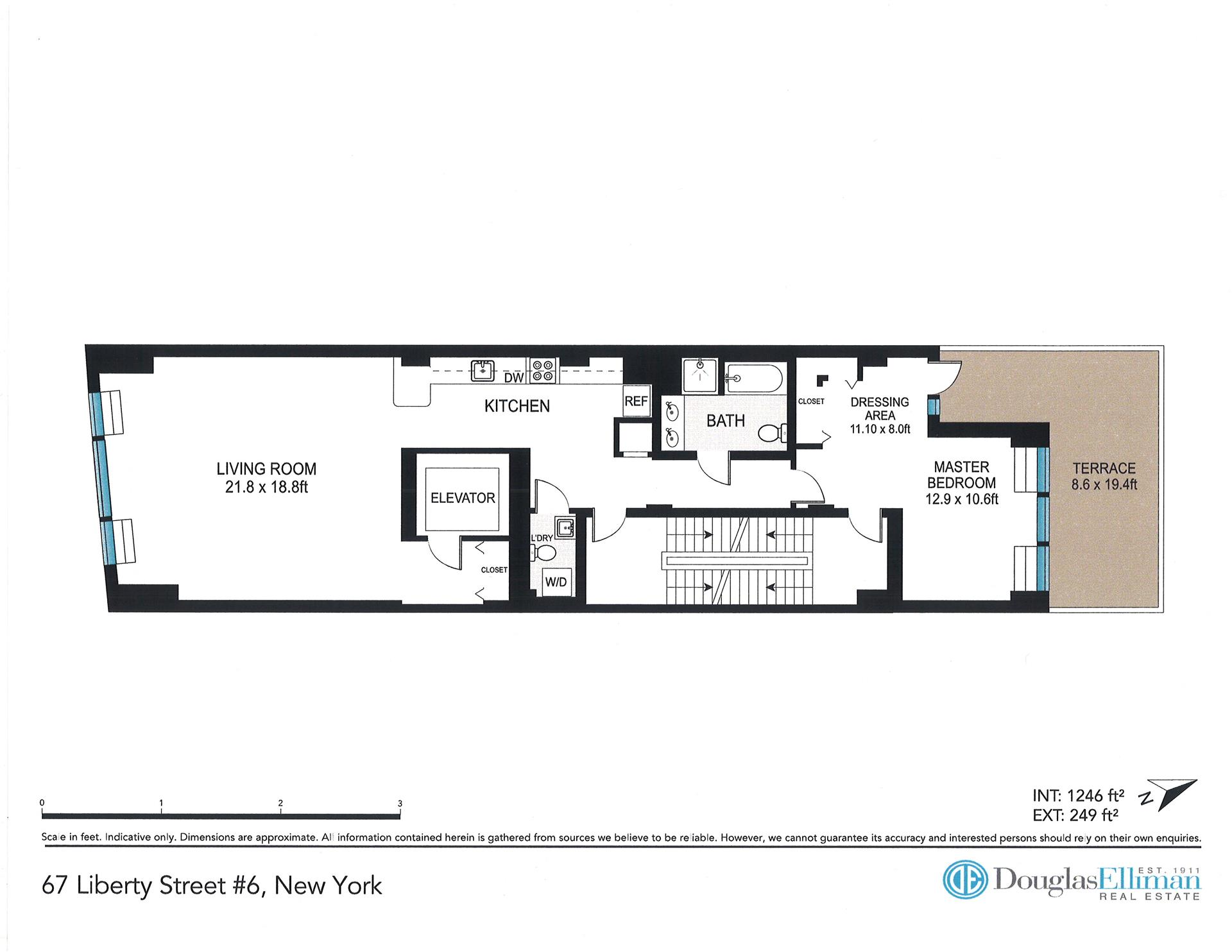 Floor plan of 67 Liberty St, 6 - Financial District, New York