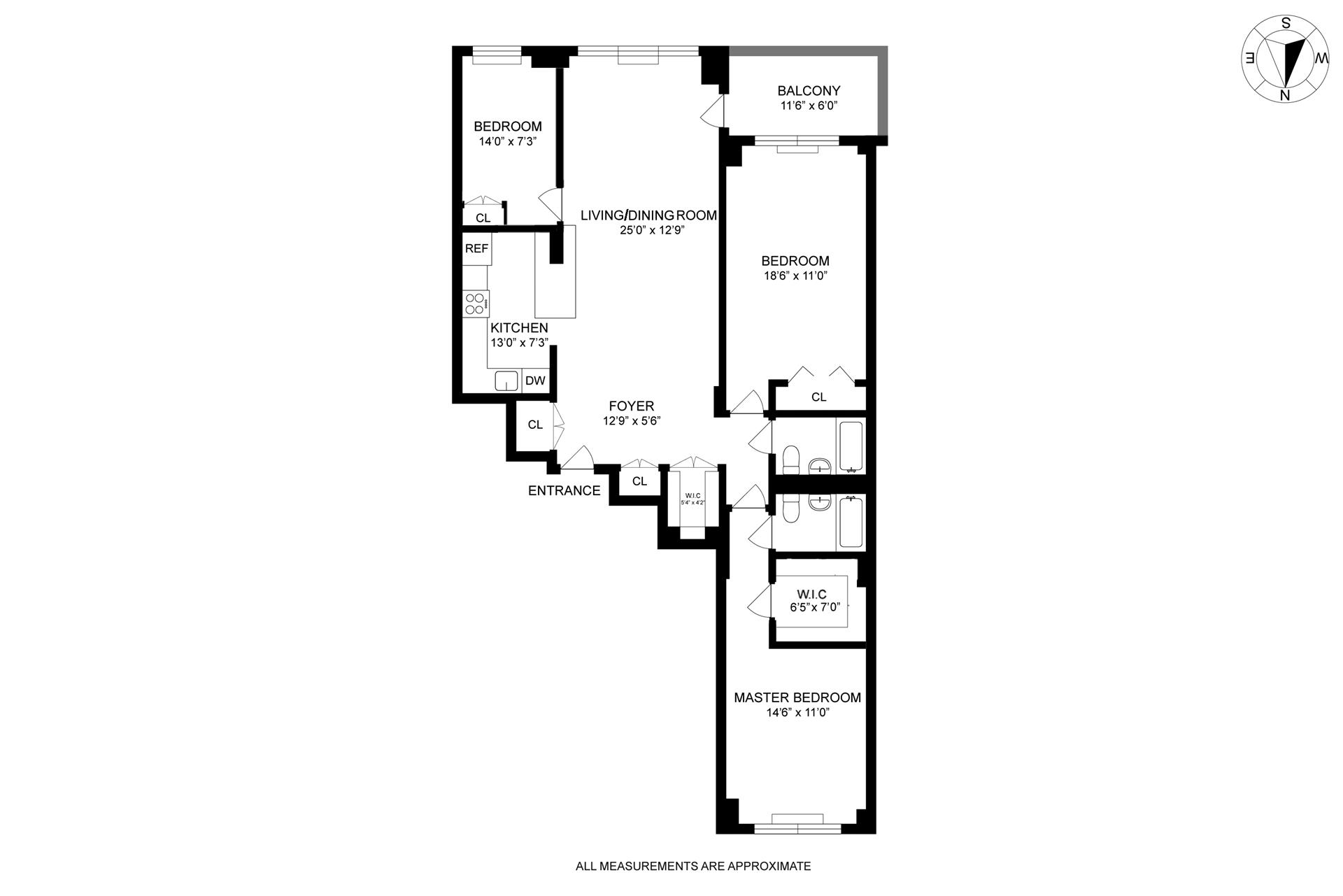Floor plan of MORAD DIPLOMAT, 345 East 73rd St, 7H - Upper East Side, New York