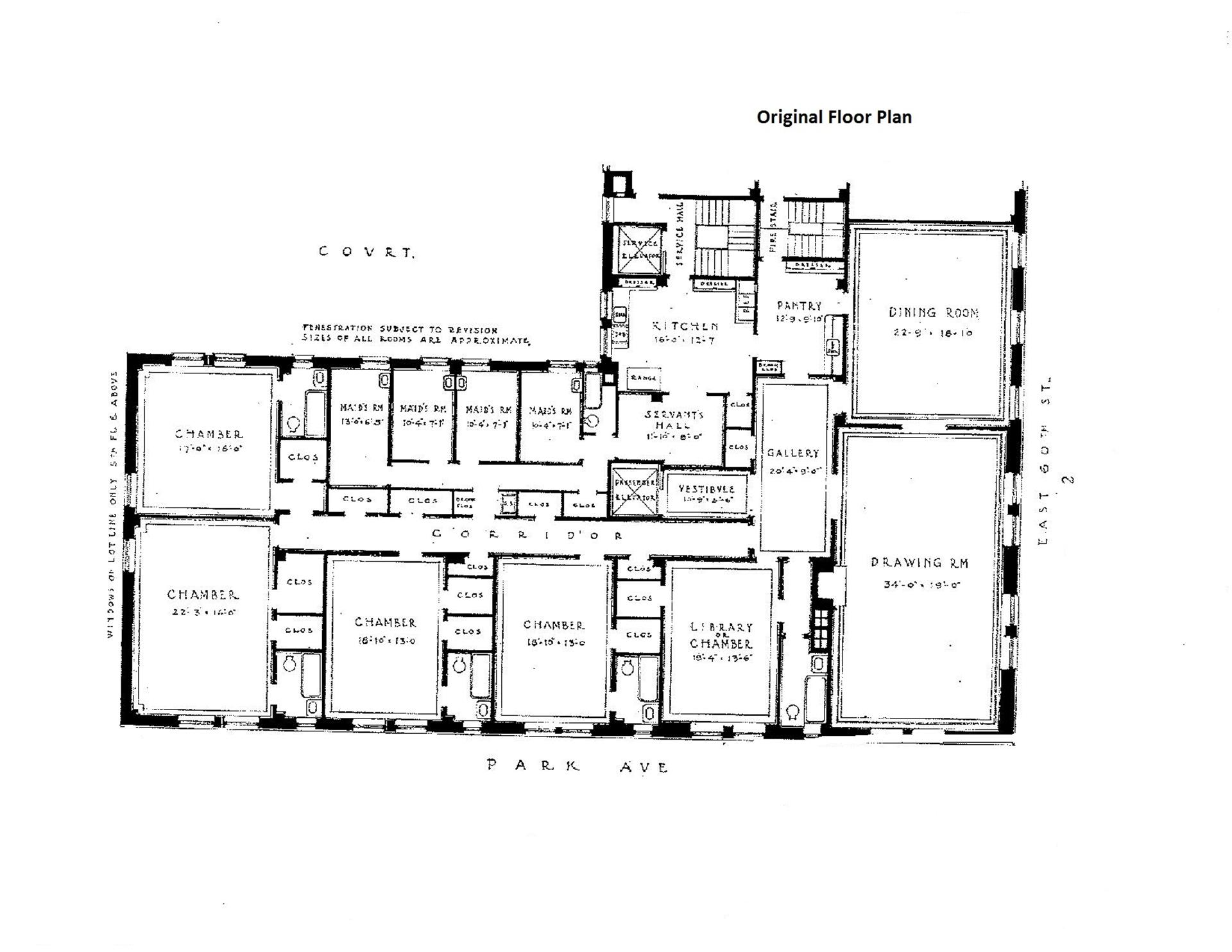 Floor plan of 510 Park Avenue, 6 - Upper East Side, New York