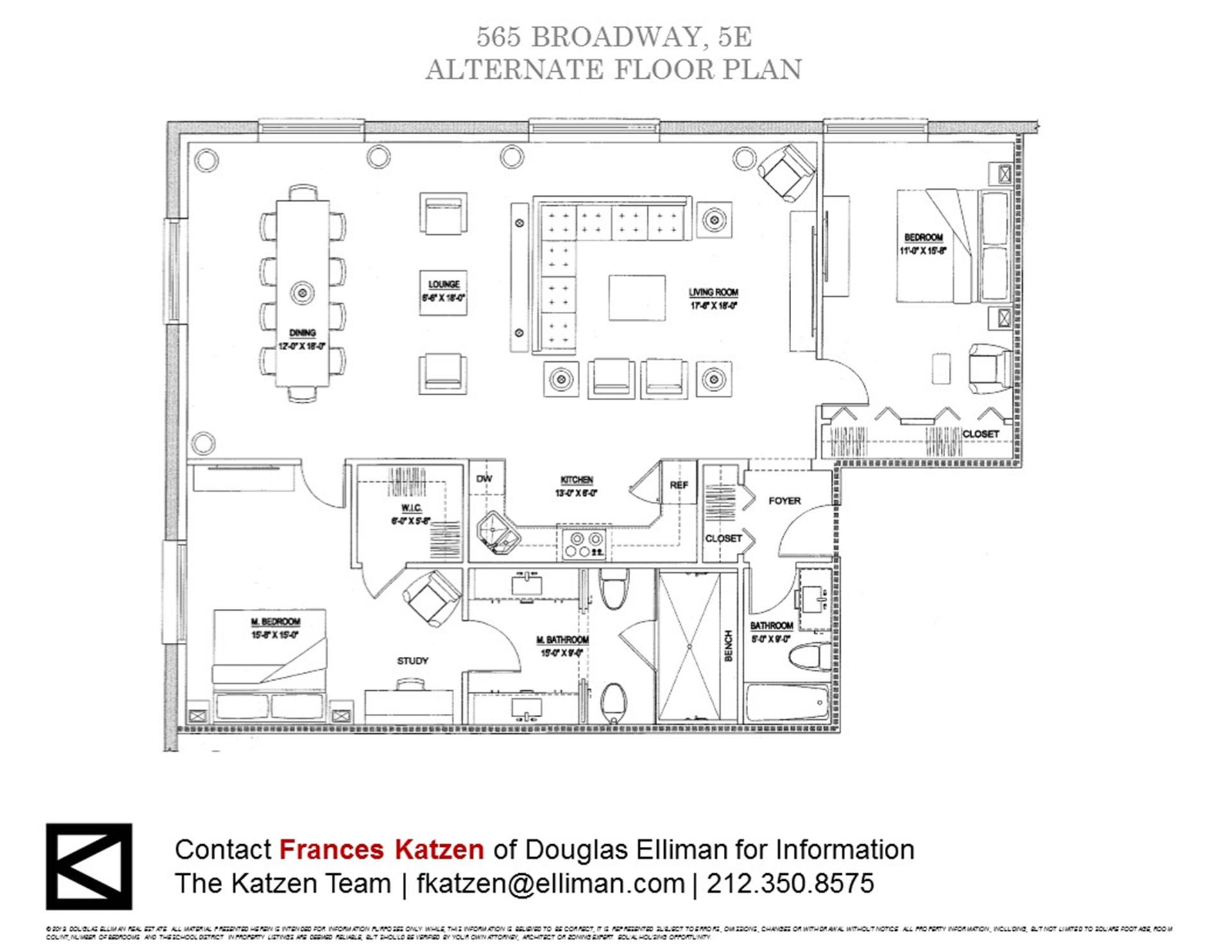 Floor plan of PRINCE TOWER, 565 Broadway, 5E - SoHo - Nolita, New York