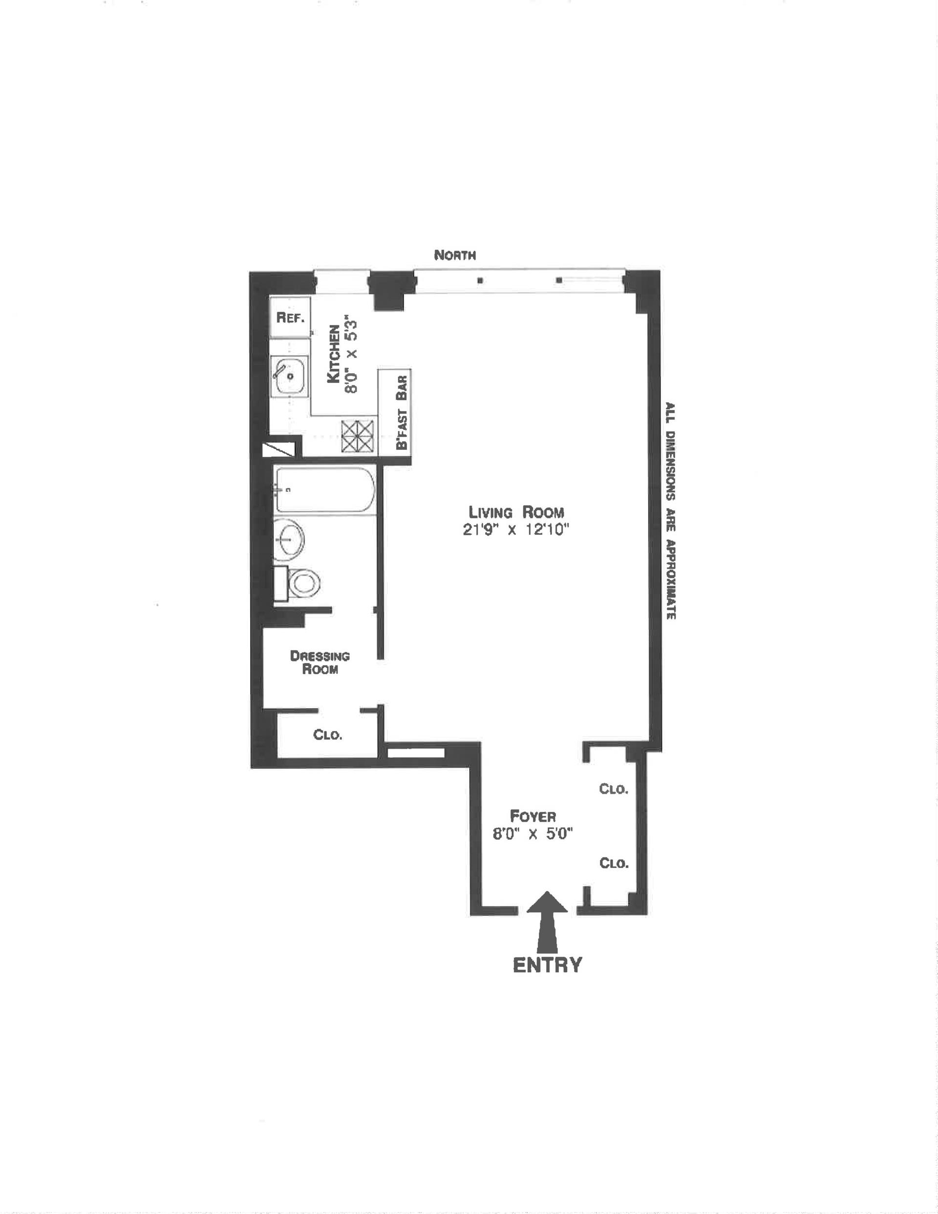 Floor plan of 405 East 63rd St, 8A - Upper East Side, New York