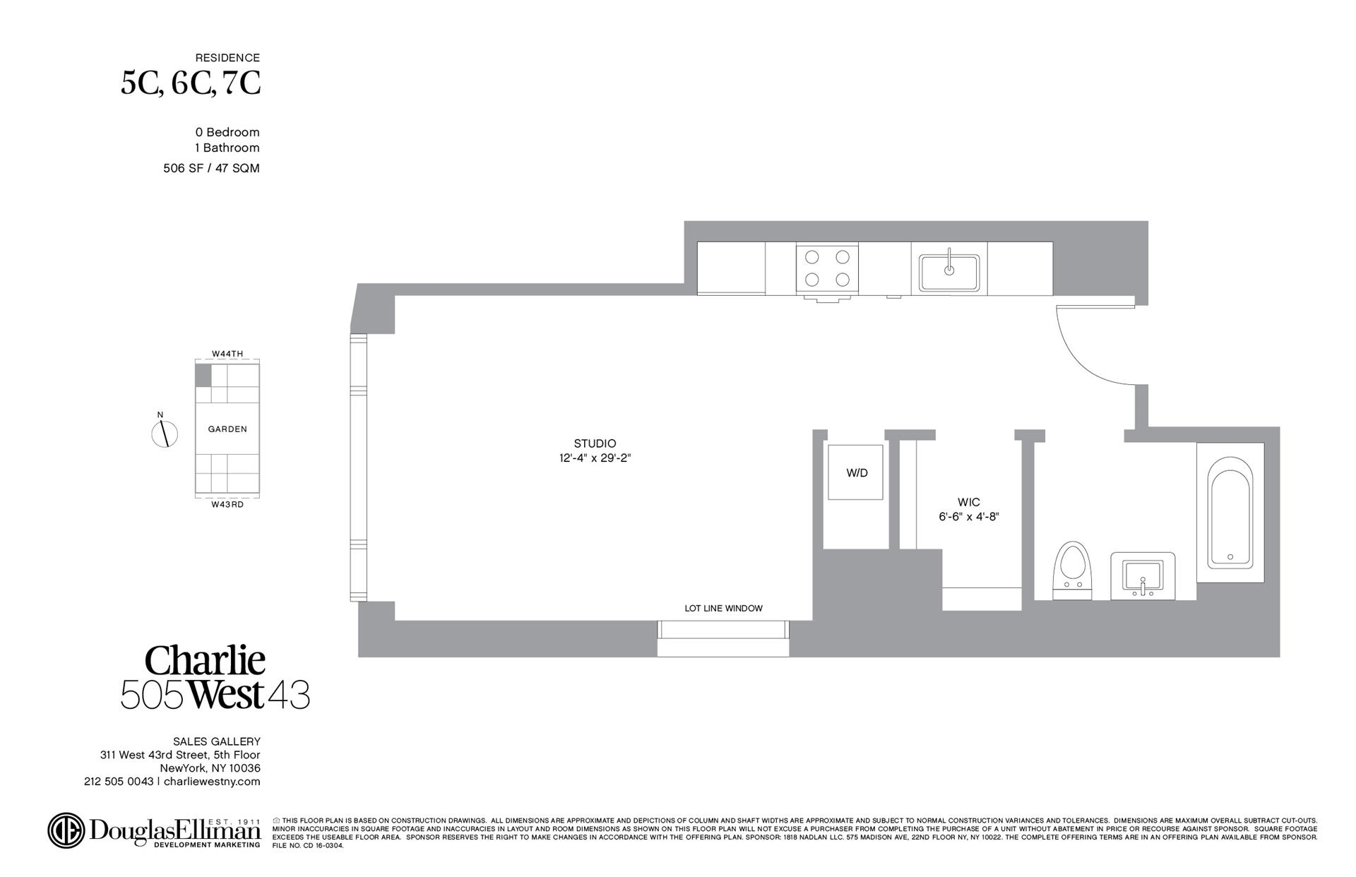 Floor plan of 505 West 43rd St, 6C - Clinton, New York