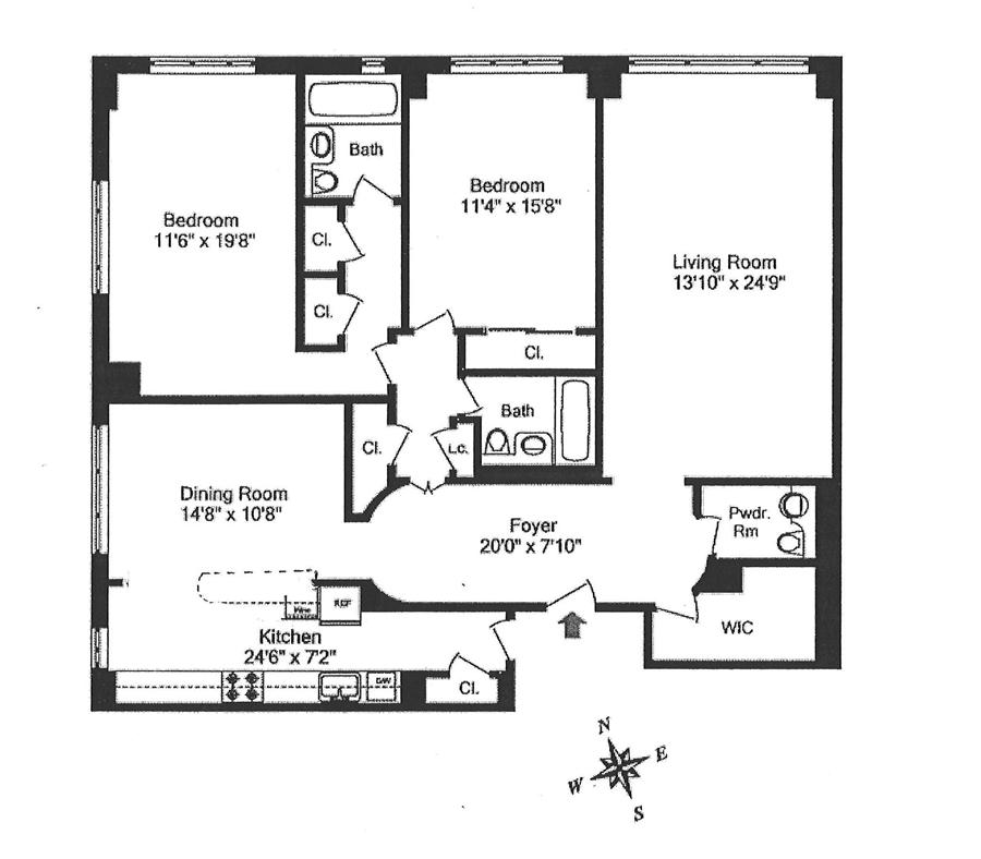 Floor plan of The Colony, 30 East 65th Street, 6A