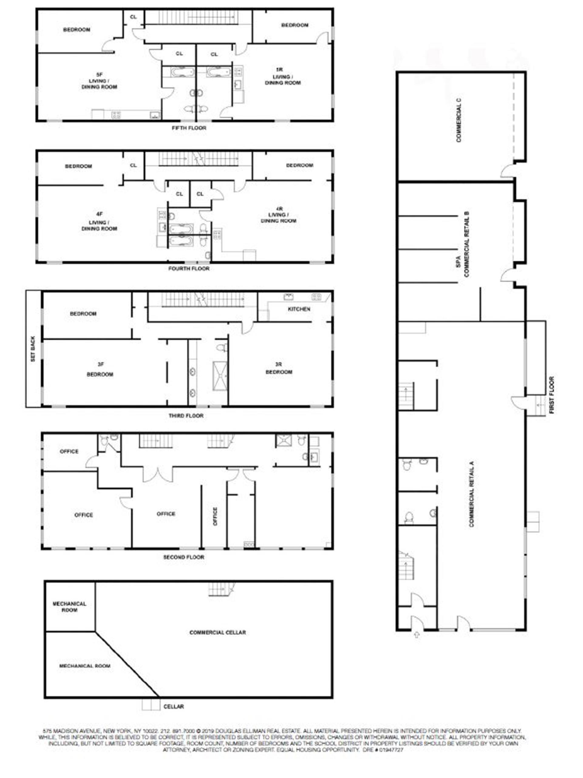 Floor plan of 57 Seventh Avenue - Park Slope, New York