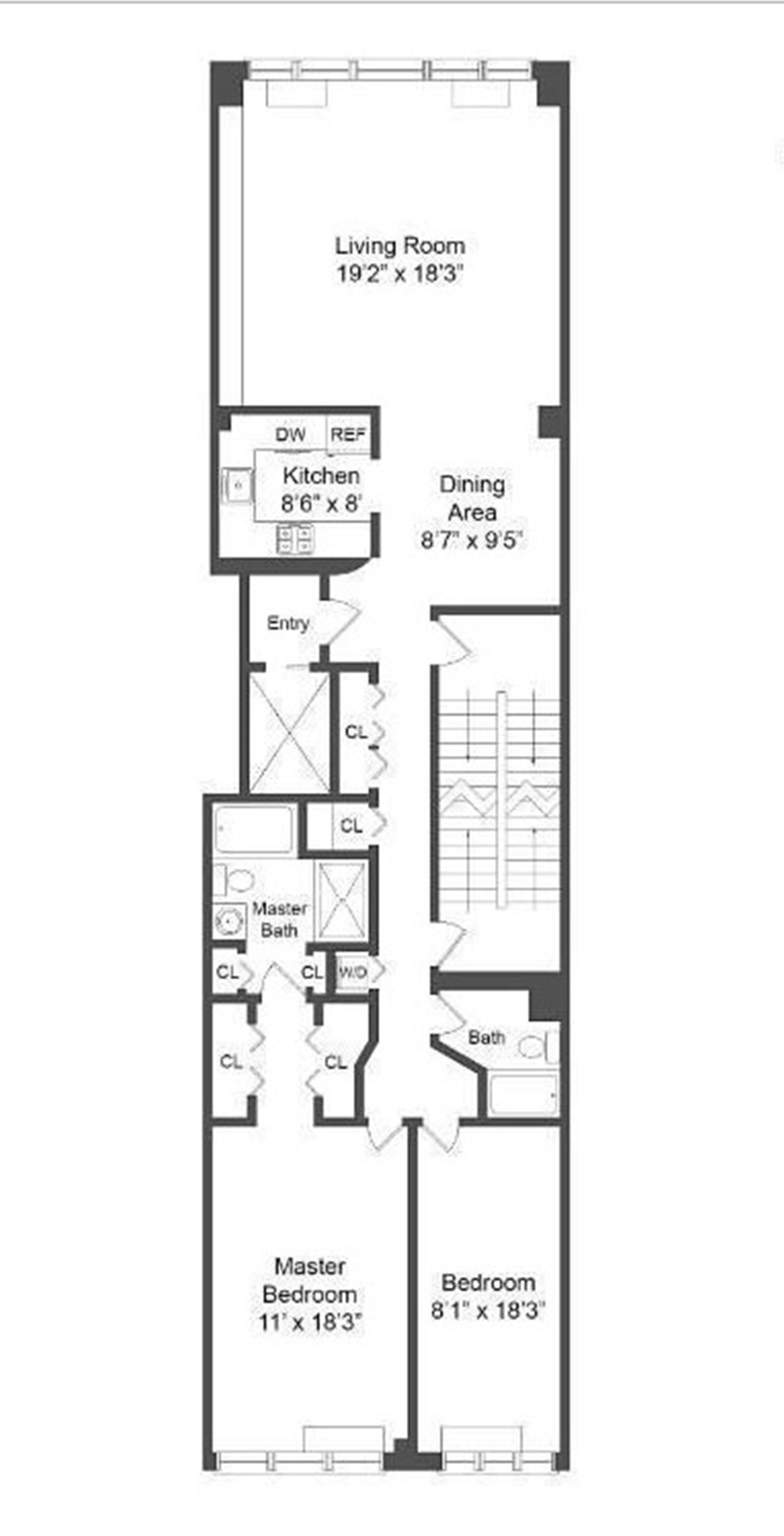 Floor plan of 177 East 79 Street Owners, 177 East 79th St, 6A - Upper East Side, New York