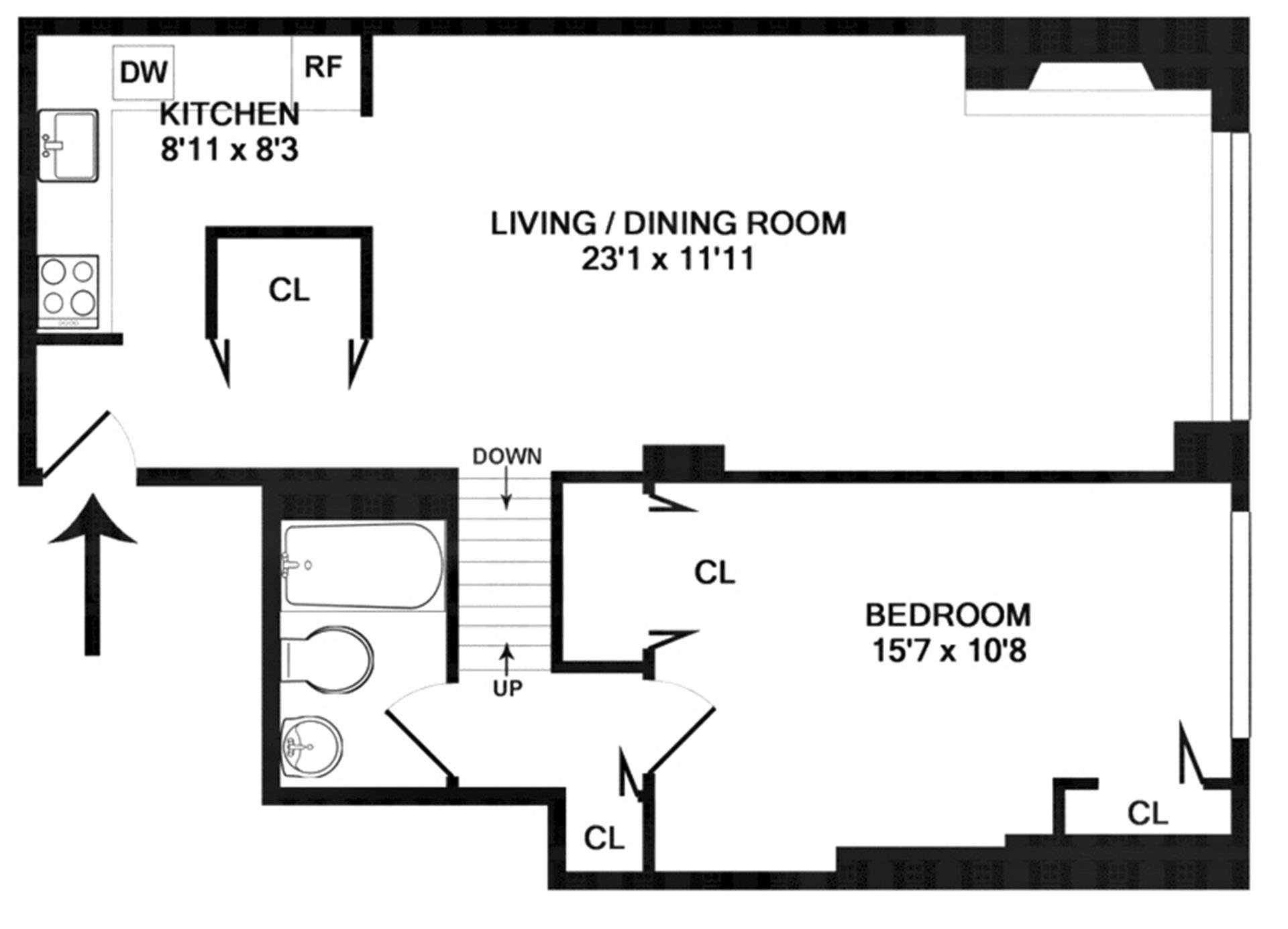 Floor plan of THE ANTOINETTE, 7 East 35th St, 1C - Murray Hill, New York