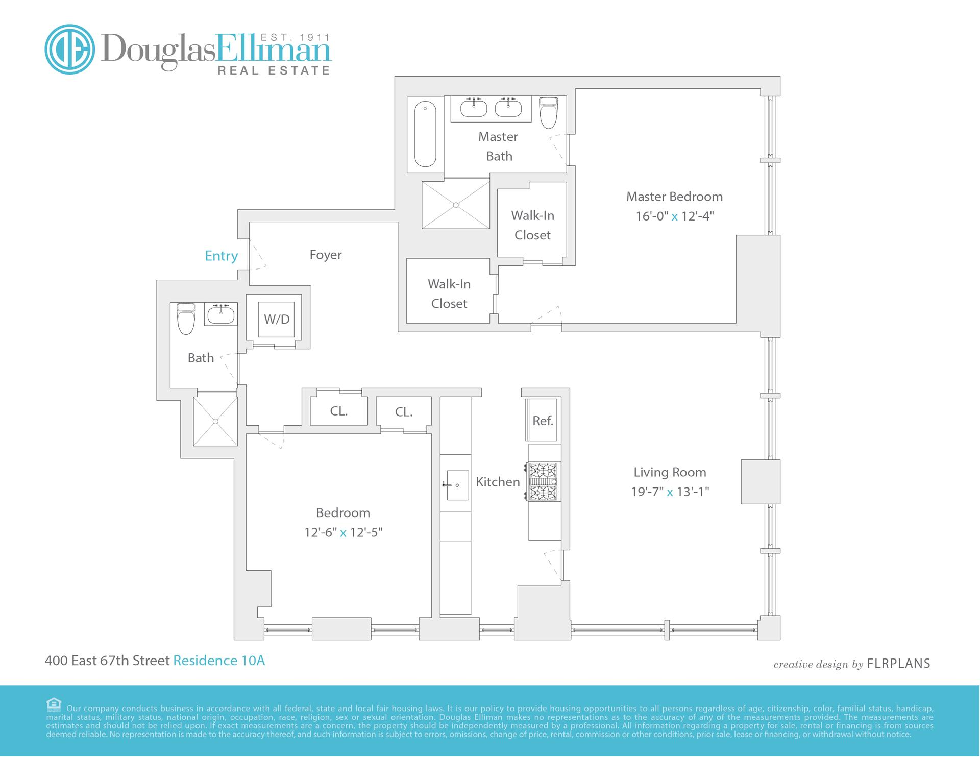 Floor plan of The Laurel, 400 East 67th St, 10A - Upper East Side, New York