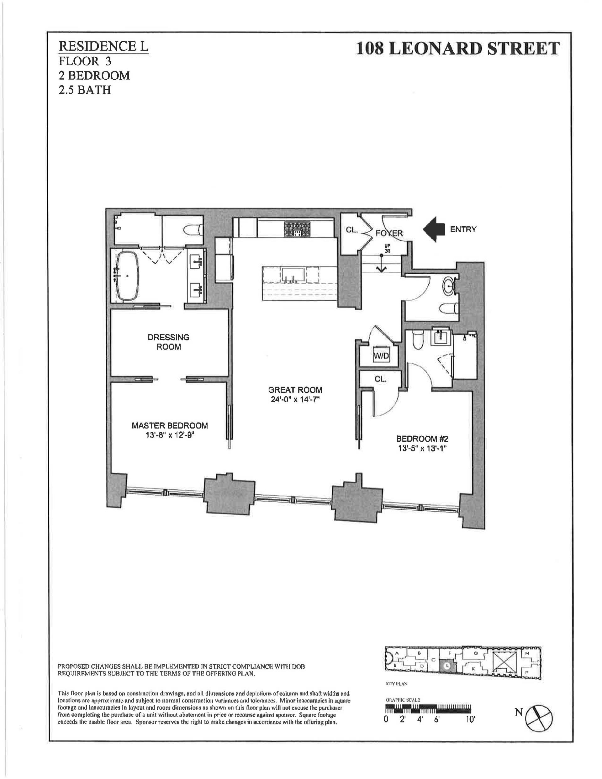 Floor plan of 108 Leonard St, 3L - TriBeCa, New York
