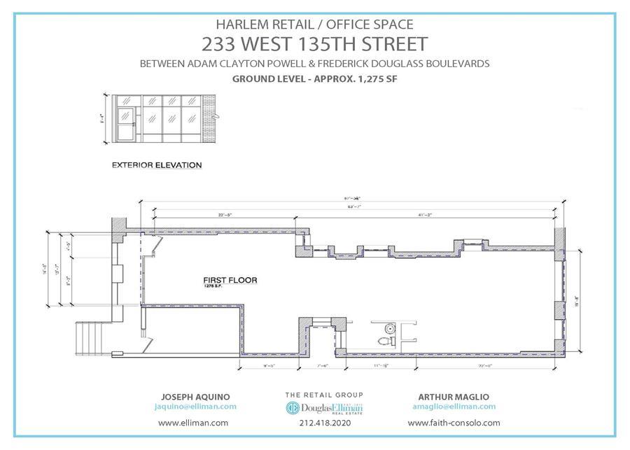 Floor plan of 233 West 135th Street, RETAIL - Harlem, New York