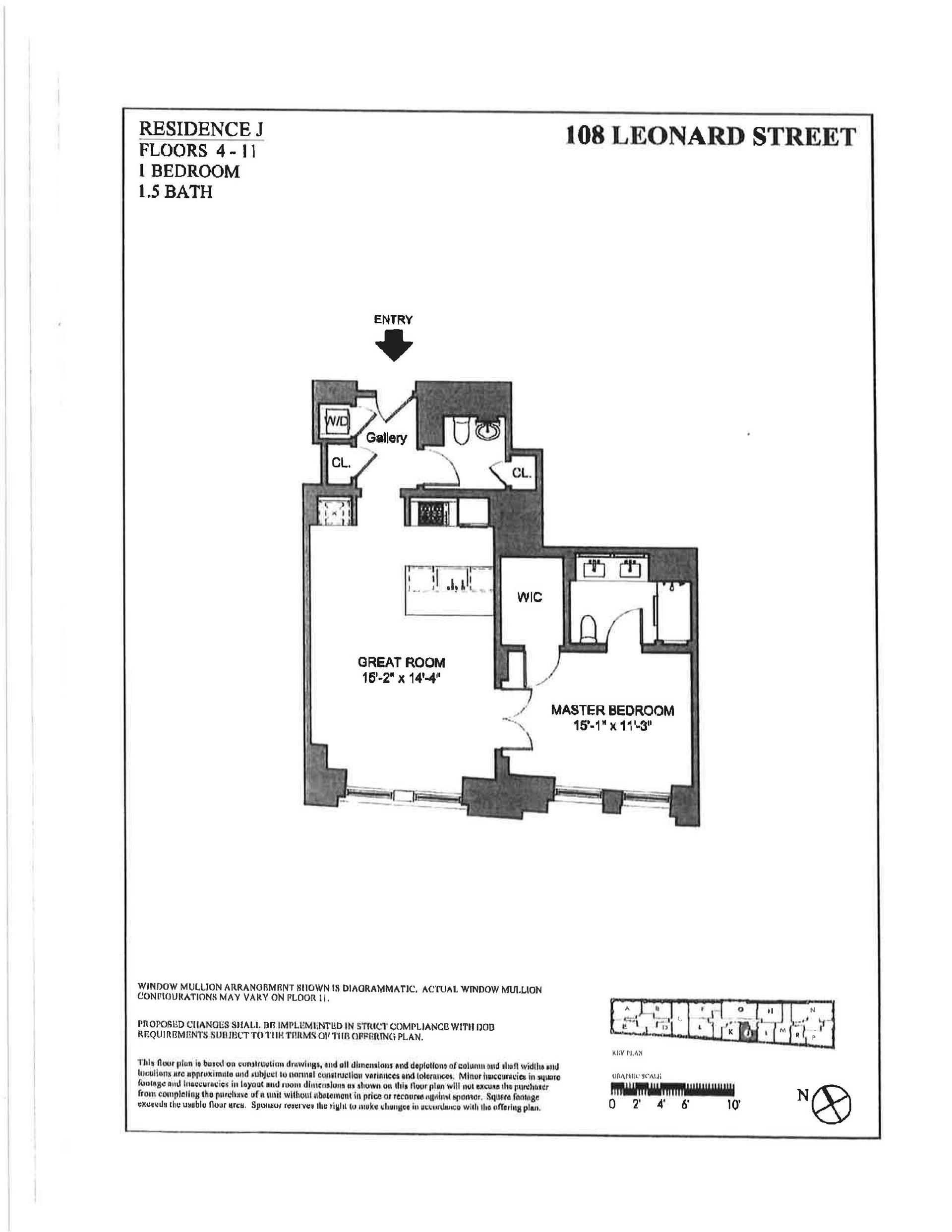 Floor plan of 108 Leonard St, 4J - TriBeCa, New York