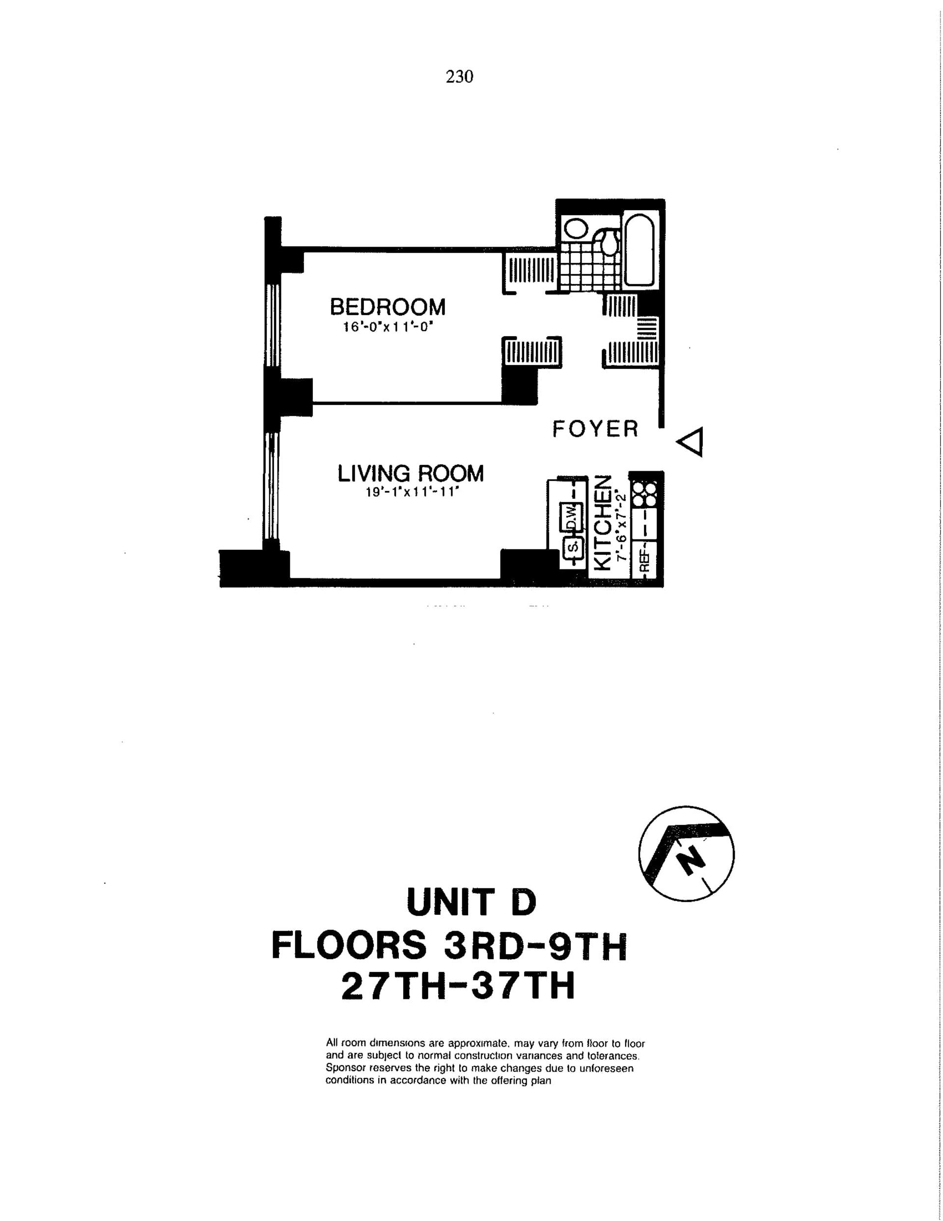 Floor plan of Liberty Residences, 200 Rector Pl, 35D - Battery Park City, New York