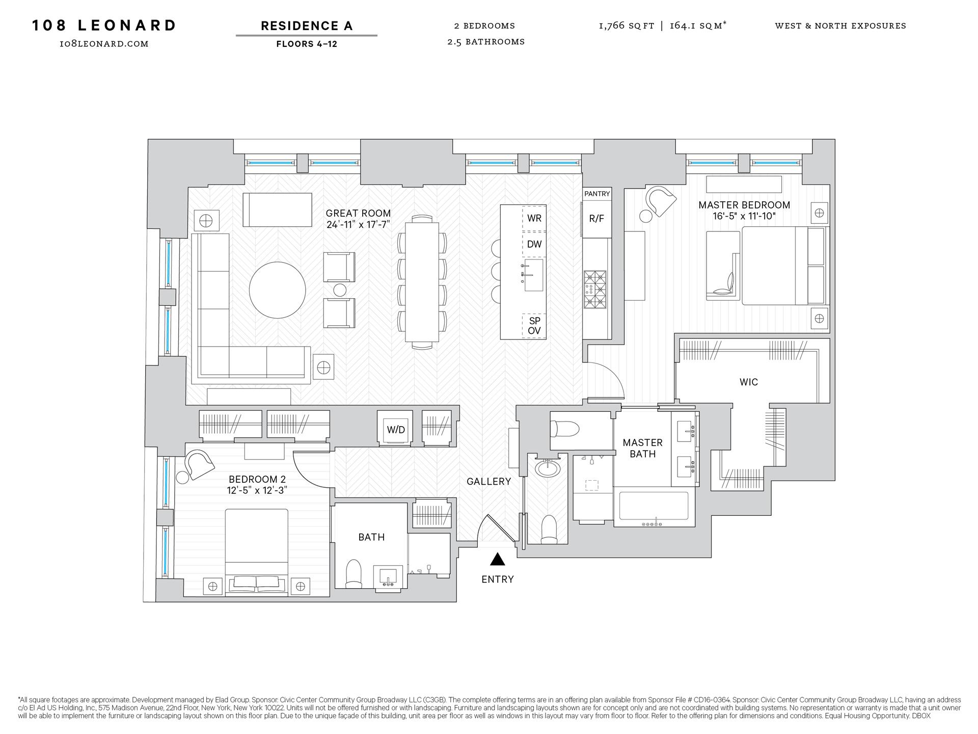 Floor plan of 108 Leonard St, 10A - TriBeCa, New York