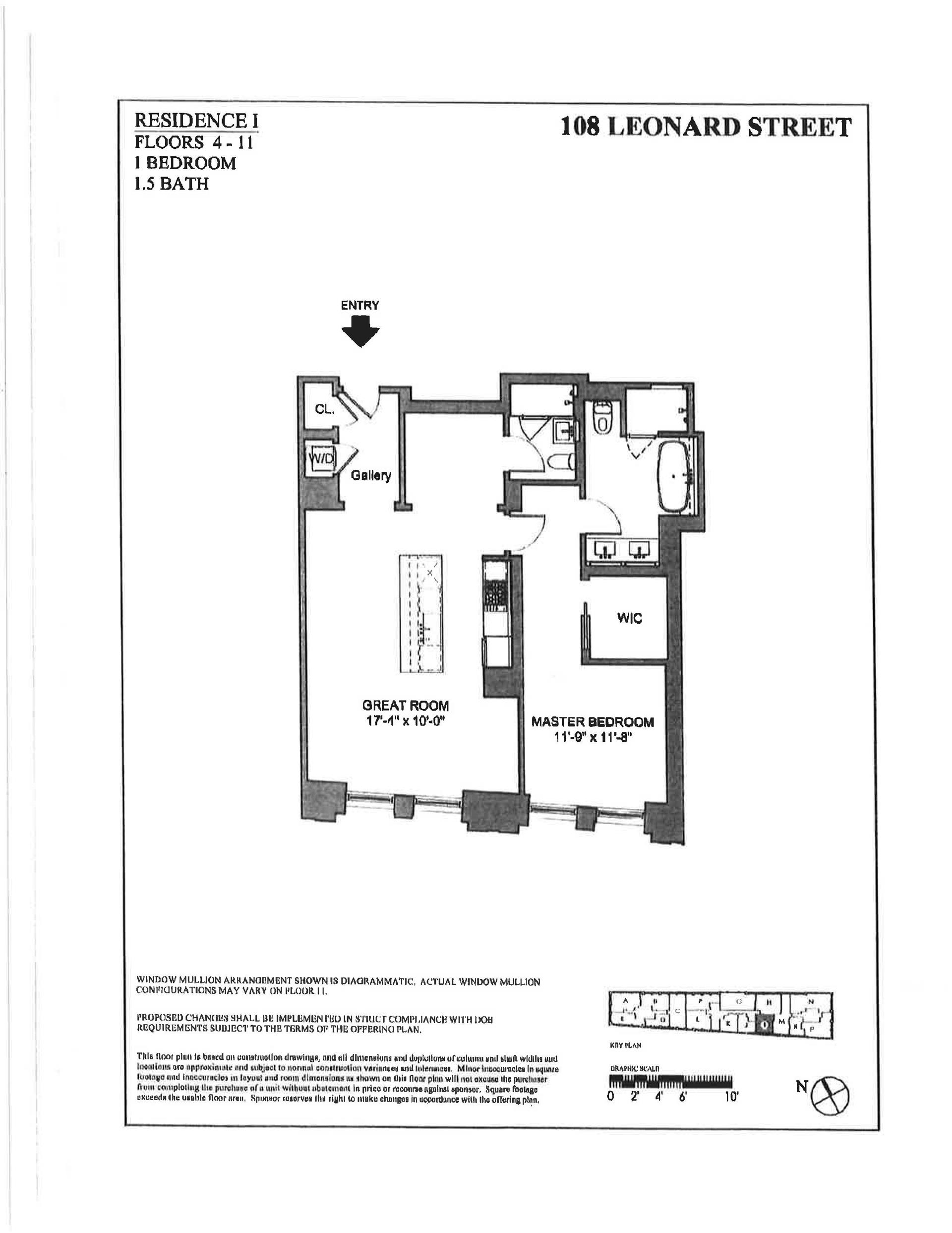 Floor plan of 108 Leonard St, 7I - TriBeCa, New York