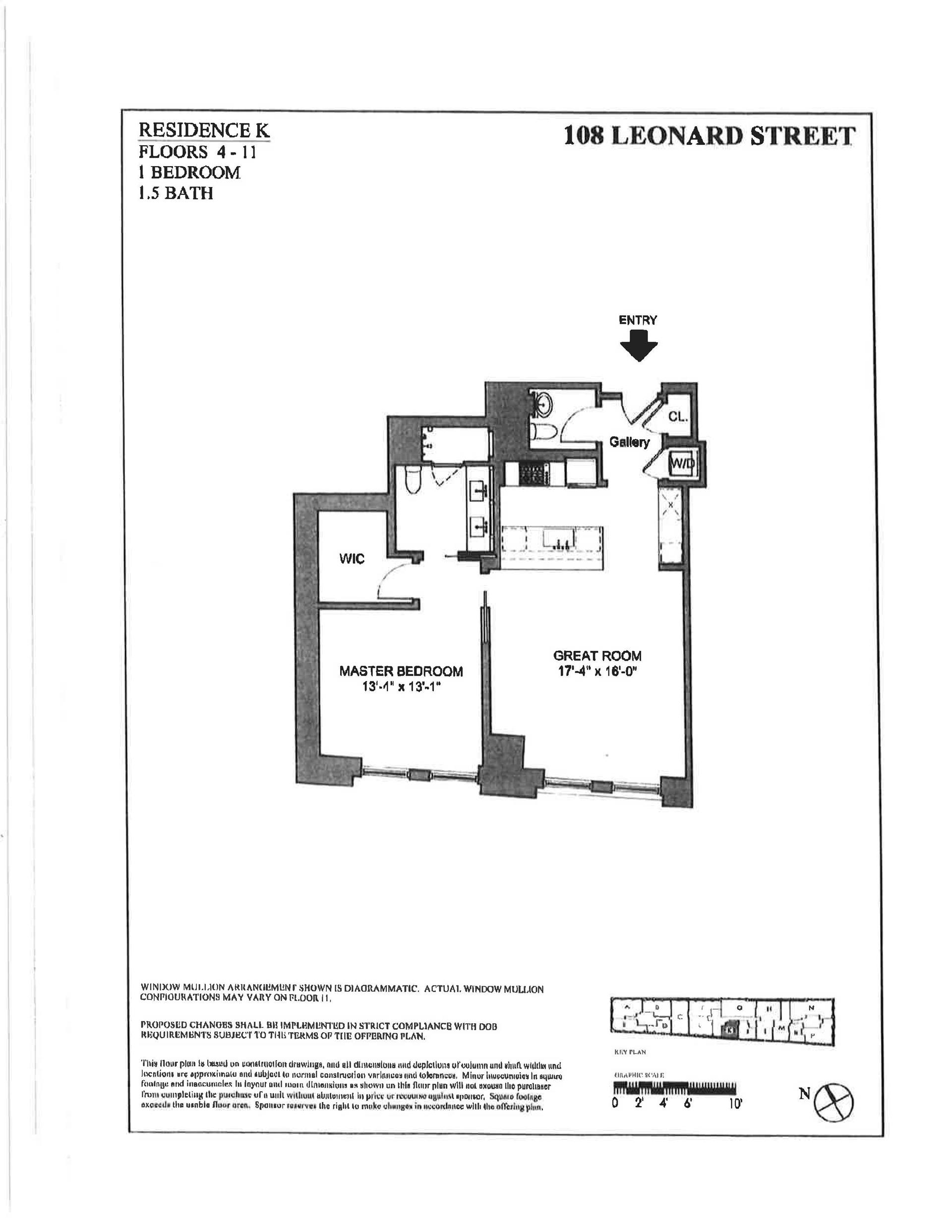 Floor plan of 108 Leonard St, 8K - TriBeCa, New York