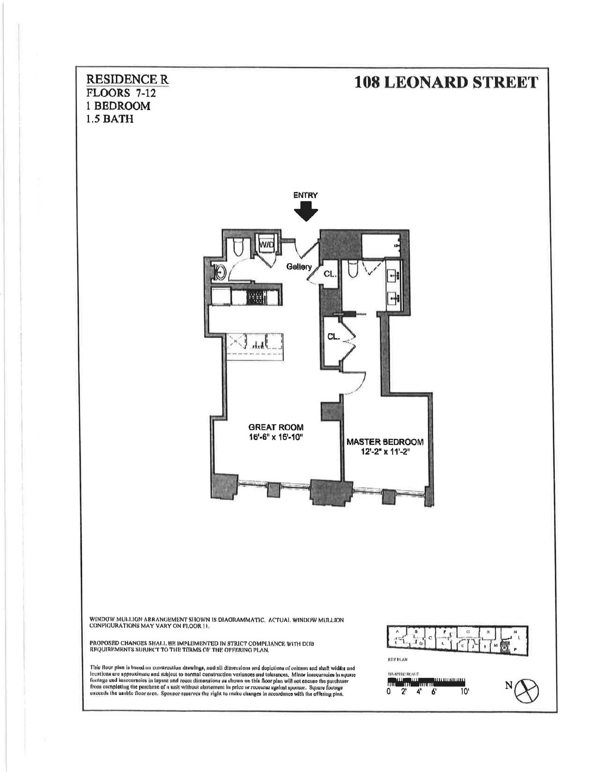 Floor plan of 108 Leonard St, 10R - TriBeCa, New York