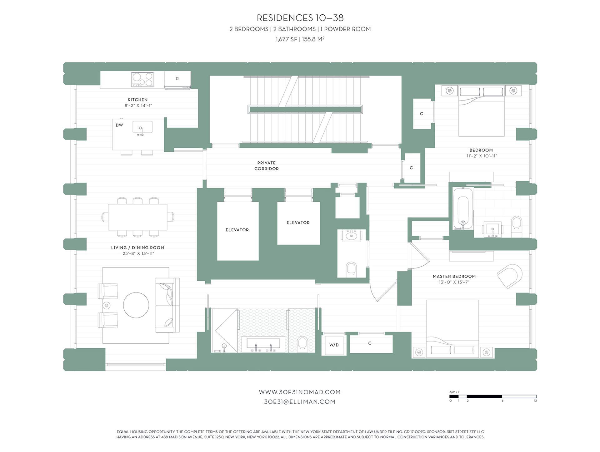 Floor plan of 30 East 31st St, 28 - Midtown, New York