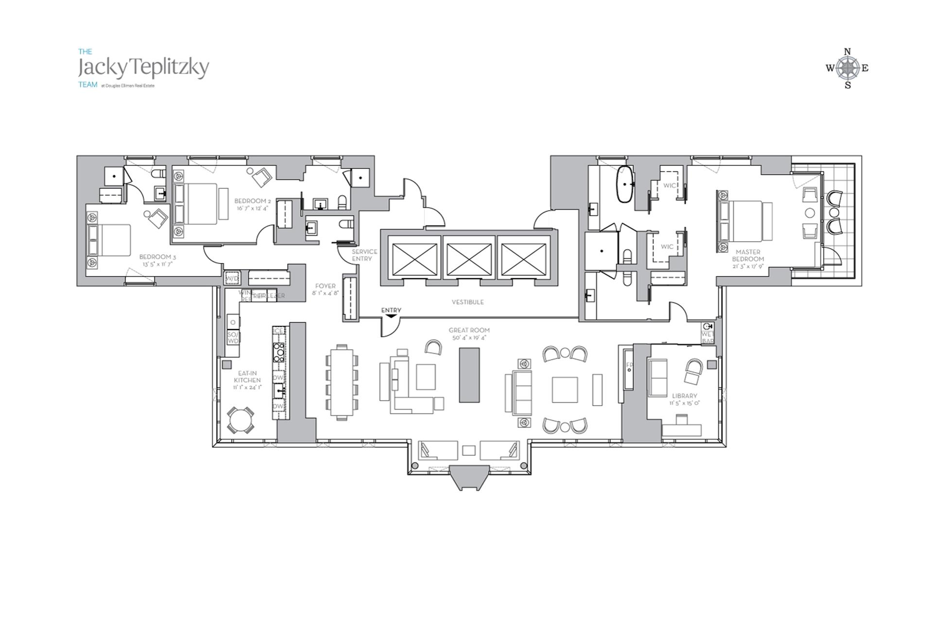Floor plan of 135 West 52nd St, 37A - Midtown, New York
