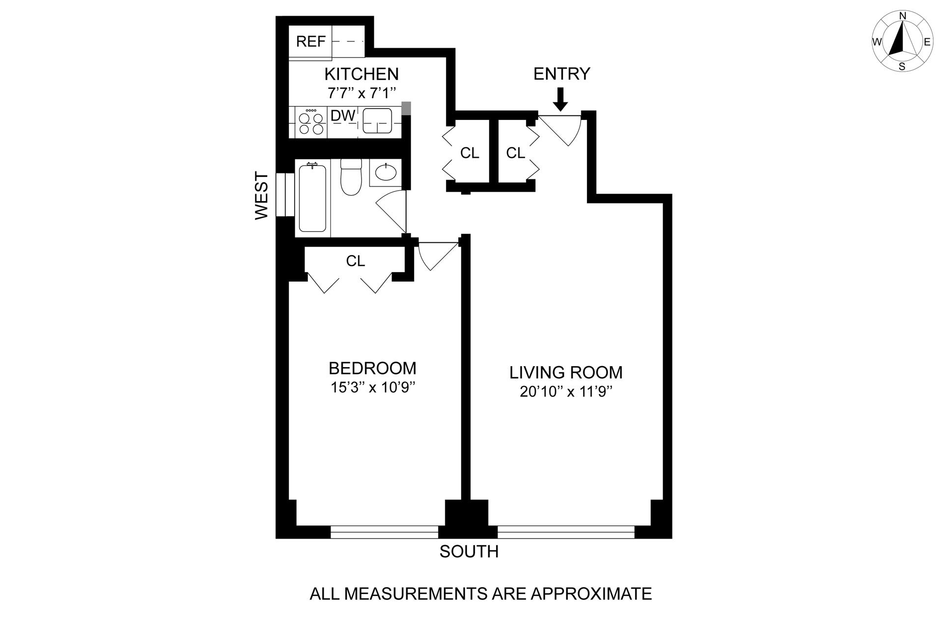 Floor plan of 2025 Broadway, 20K - Upper West Side, New York