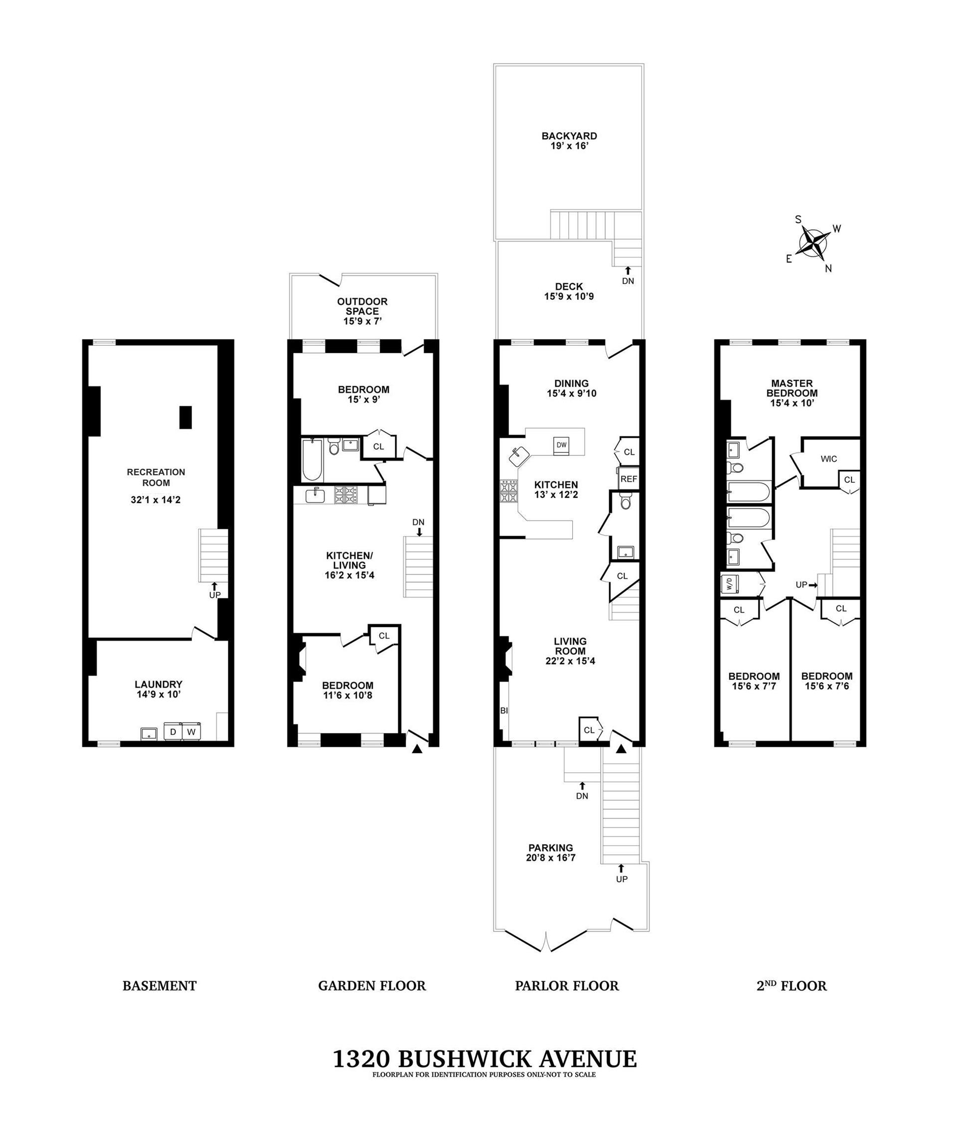 Floor plan of 1320 Bushwick Avenue - Bushwick, New York