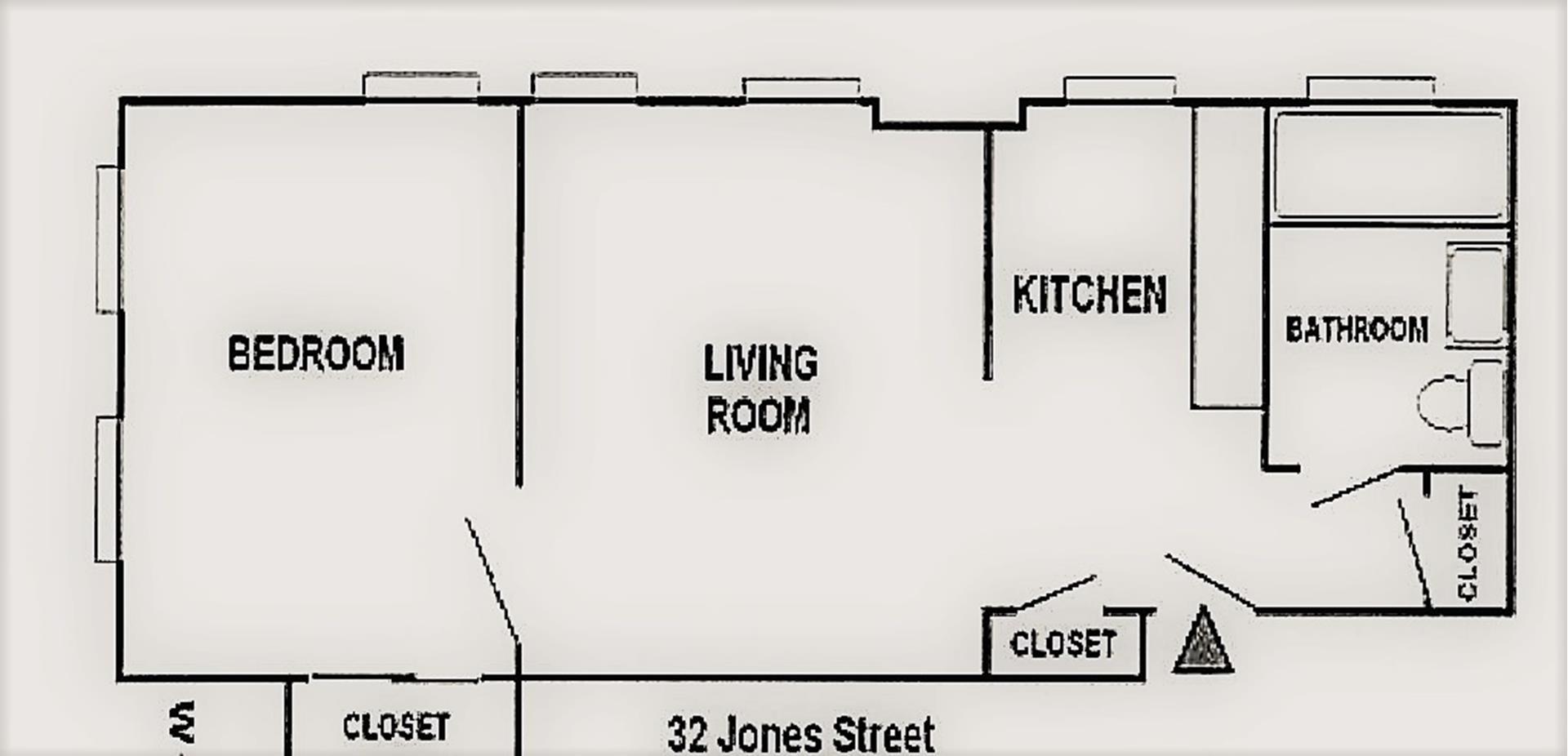 Floor plan of 32 Jones St, 4B - Greenwich Village, New York